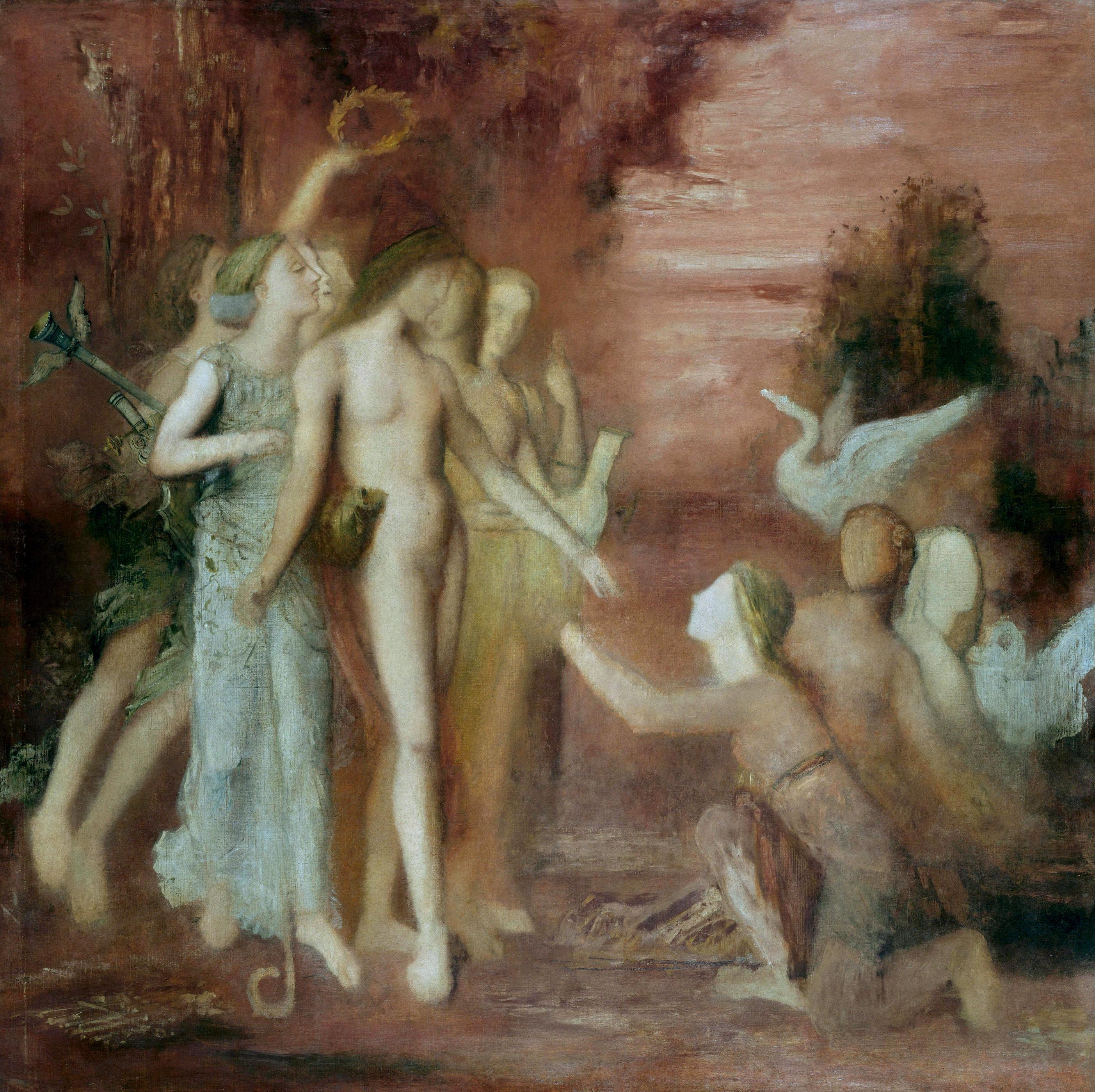 Гесиод и музы (133 х 133 см) (Париж, музей Гюстава Моро)