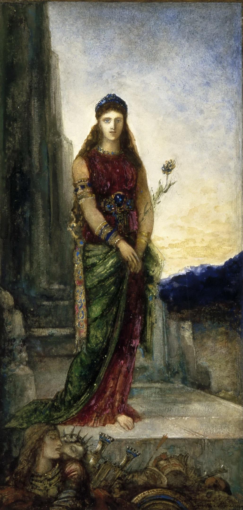Елена на стенах Трои (36.7 х 17 см) (акварель и карандаш) (Париж, Лувр)
