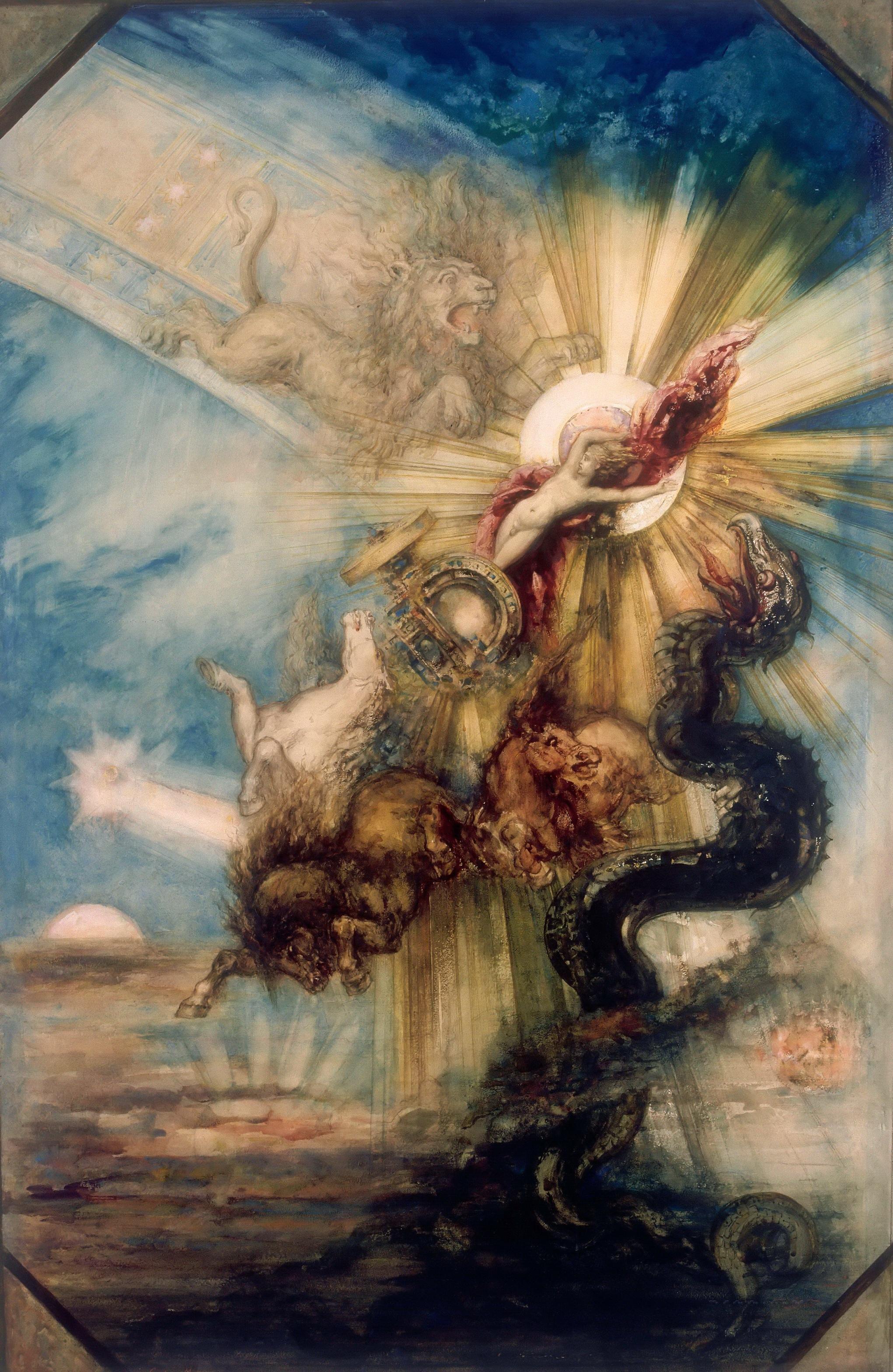 Падение Фаэтона (99 х 65 см) (акварель и гуашь) (Париж, Лувр)