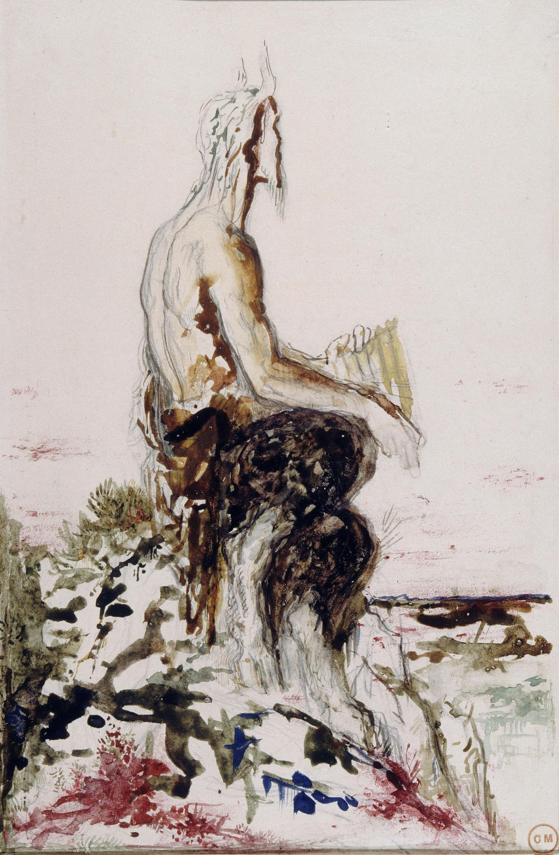 Пан (29.9 х 19.5 см) (акварель) (Париж, музей Гюстава Моро)