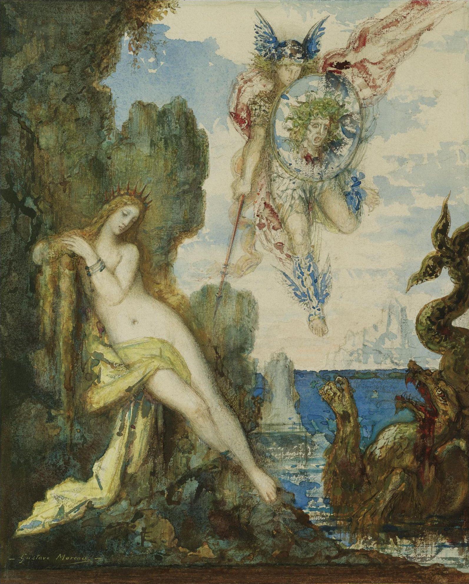 Персей и Андромеда (27.5 х 23.5 см) (акварель) (частное собрание)