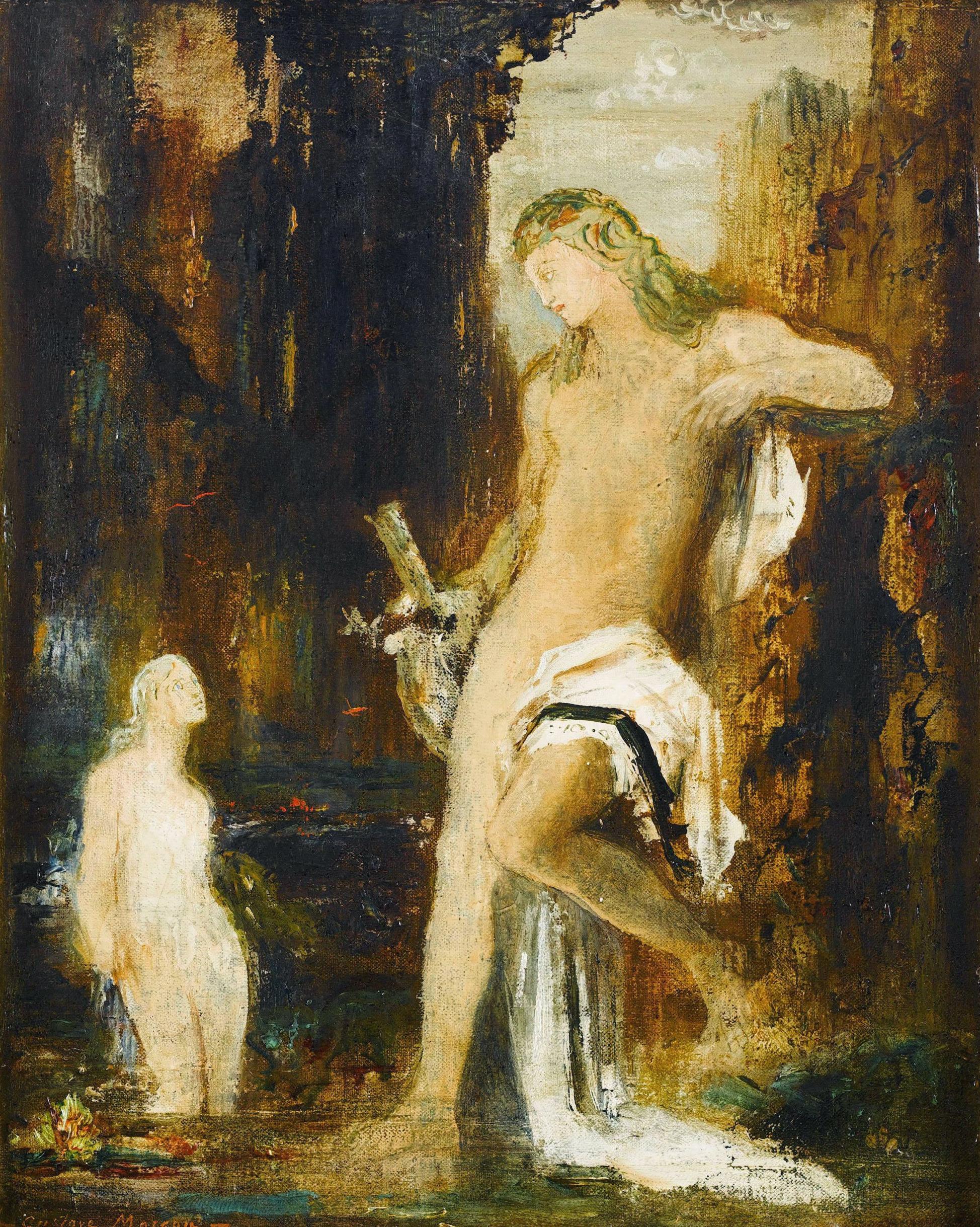 Поэт и сирена (27 х 20 см) (Париж, музей Гюстава Моро)