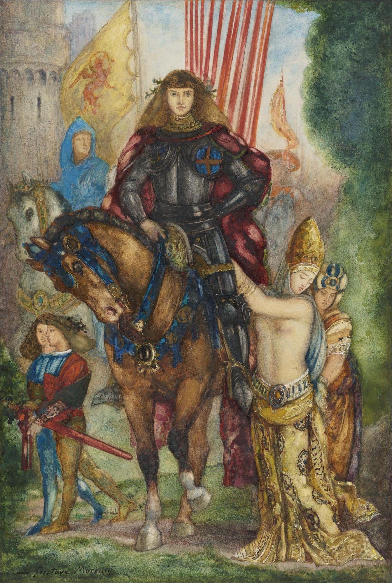 Рыцарь и пленницы (31.5 х 21.3 см) (акварель и гуашь) (частное собрание)