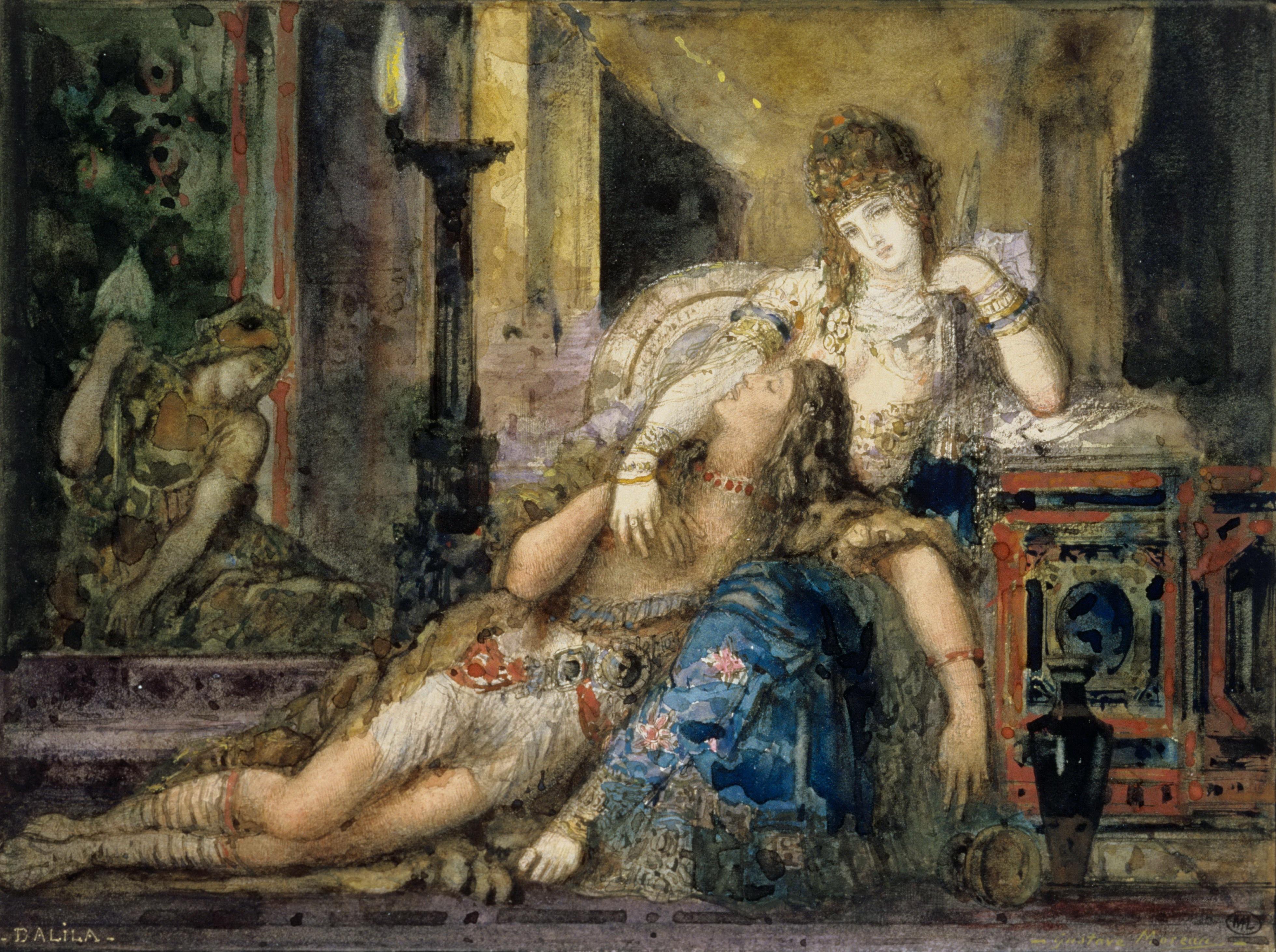 Самсон и Далила (15.8 х 21.3 см) (акварель) (Париж, Лувр)