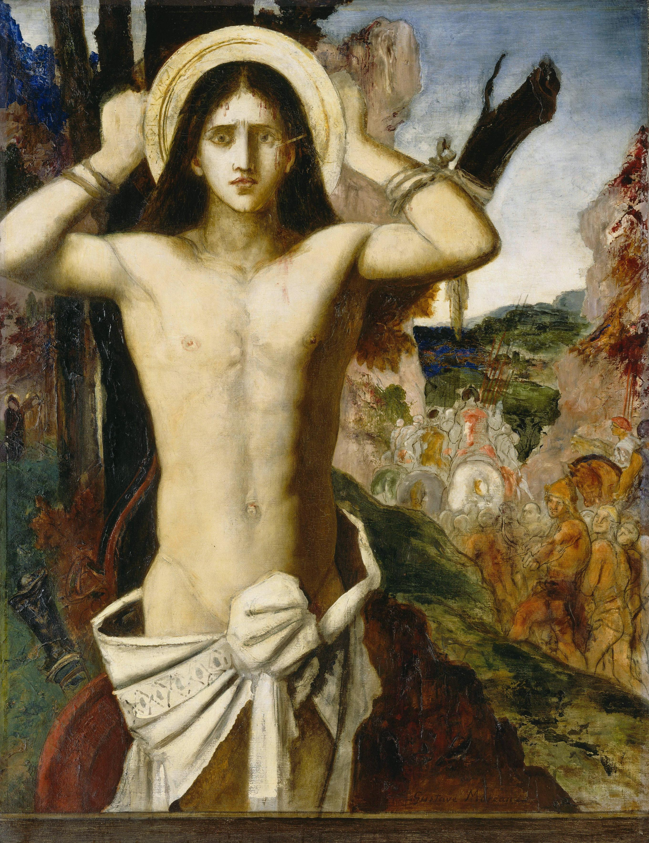 Святой Себастьян (115 х 90 см) (Париж. музей Гюстава Моро)