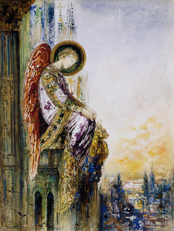 Странствующий ангел (30 х 23 см) (акварель) (Париж, музей Гюстава Моро)