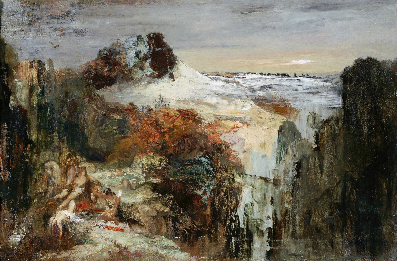 Томирис и Кир (57.5 х 87 см) (Париж, музей Гюстава Моро)