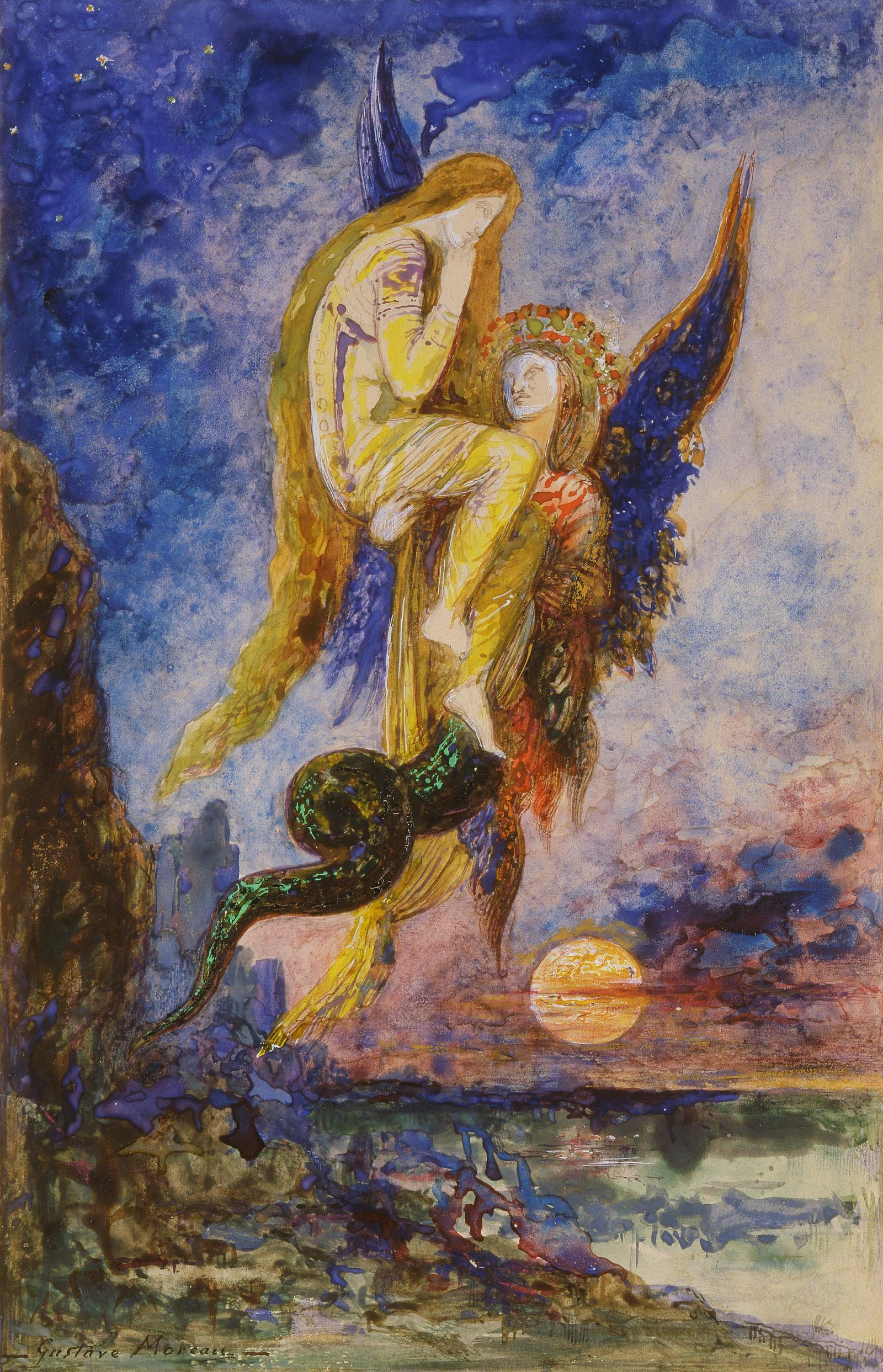 Химера (29 х 19 см) (акварель) (Париж, музей Гюстава Моро)