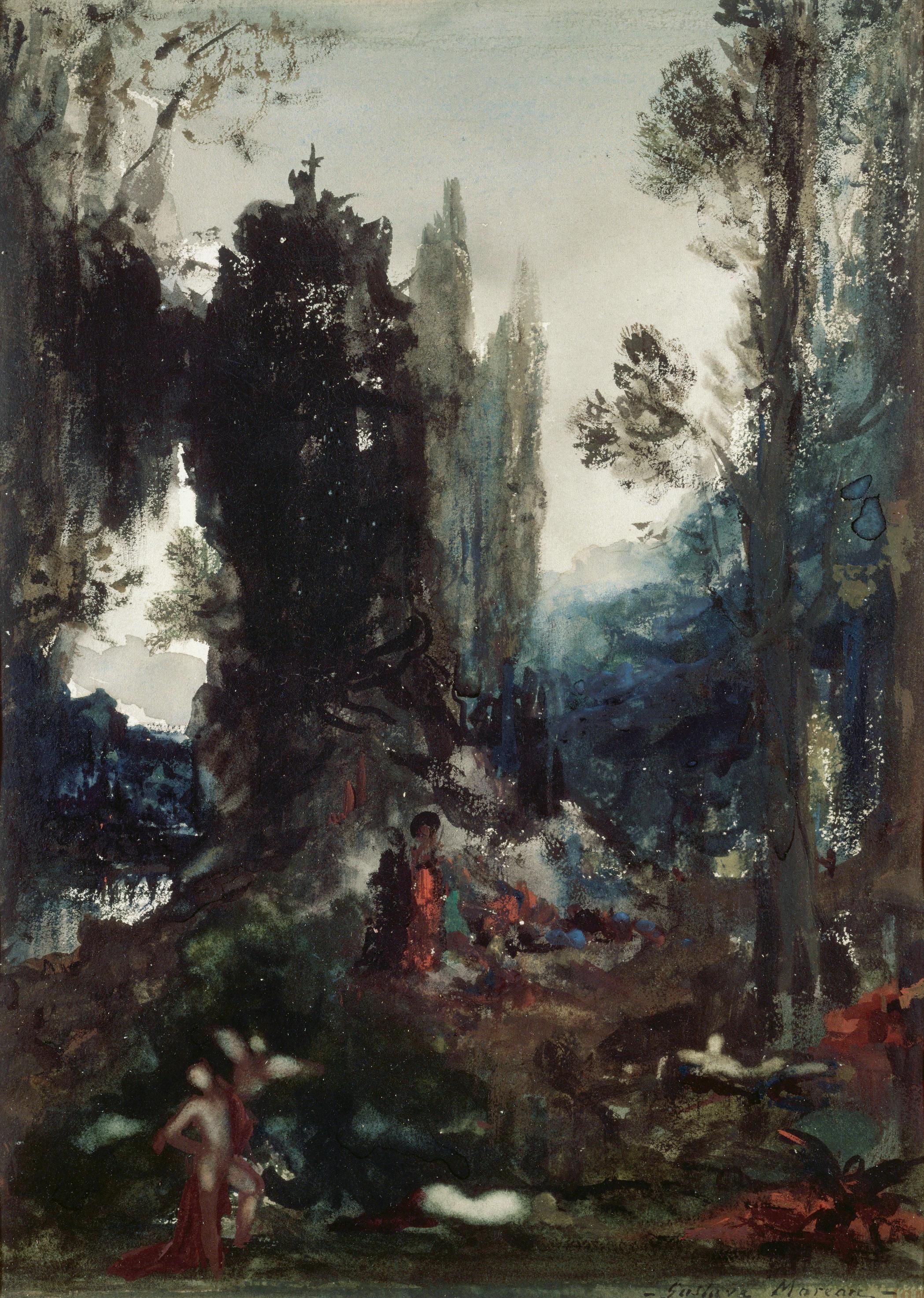 Химеры (33.4 х 24.5 см) (гуашь) (Париж, музей Гюстава Моро)