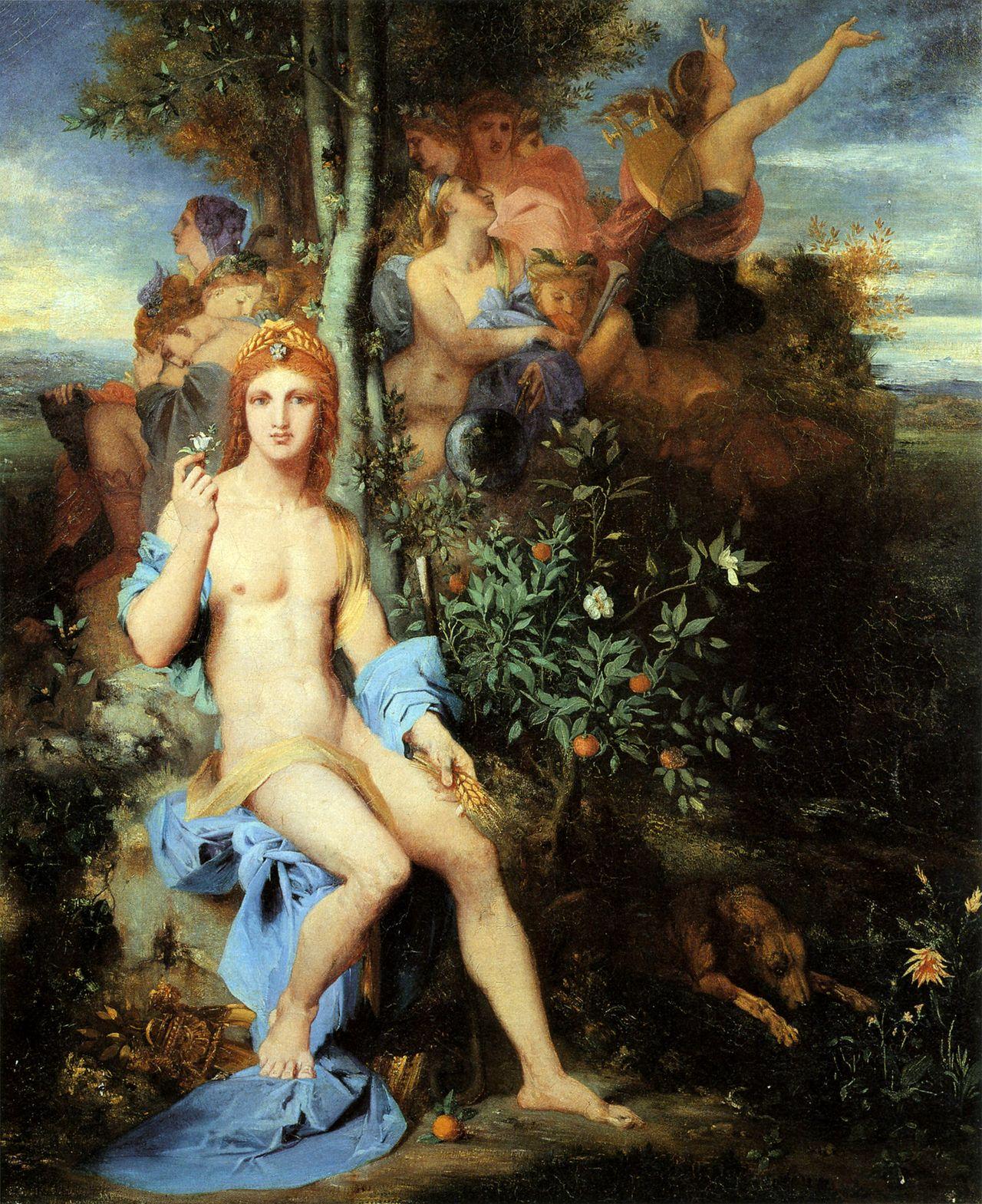 1856_Аполлон и девять муз (103 х 83 см) (частная коллекция)