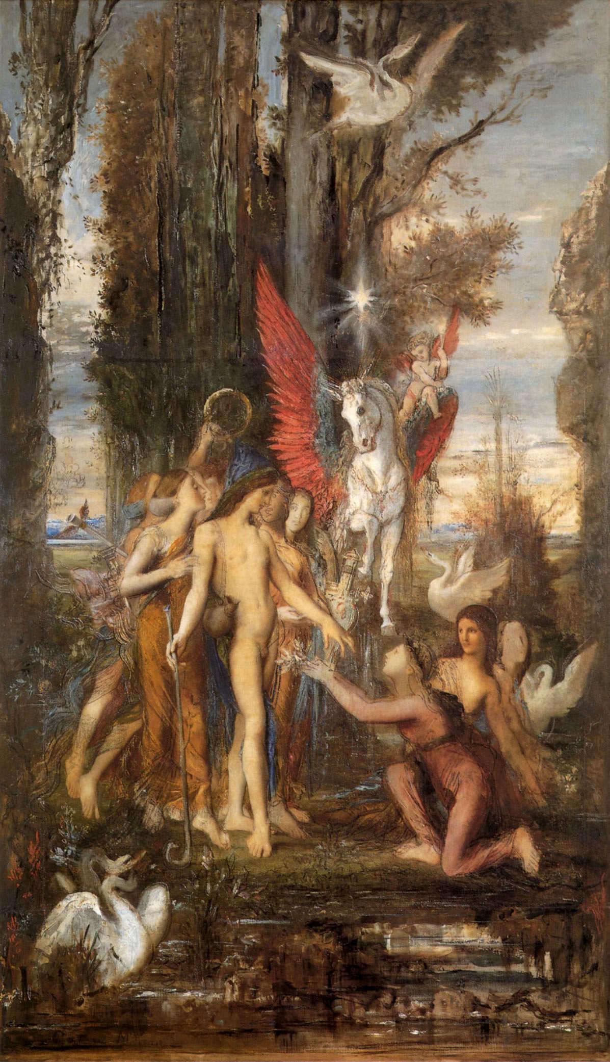 1860_Гесиод и музы (155 х 236 см) (Париж, Музей Гюстава Моро)