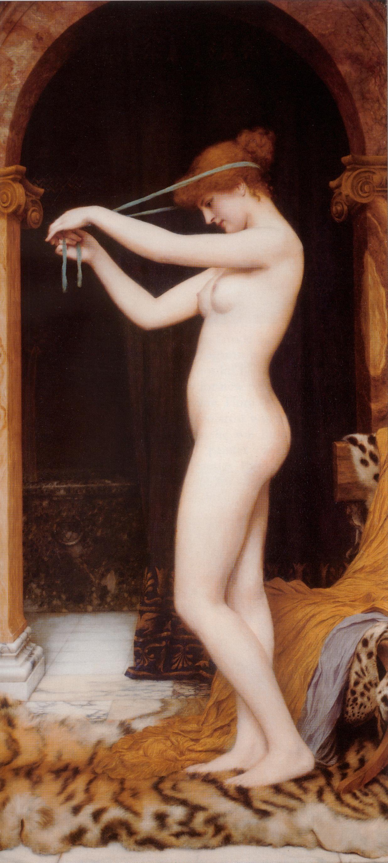 1897_Венера, повязывающая свои волосы (228 х 114 см) (частная коллекция)