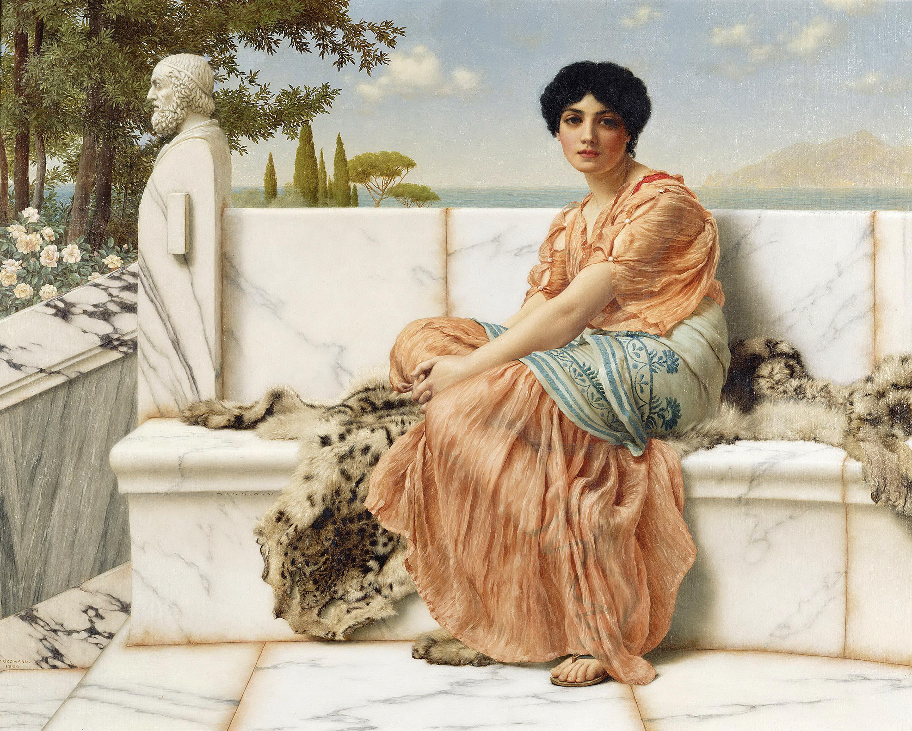1904_Мечтательница (во времена Сафо) (Лос-Анжелес, музей Пола Гетти)
