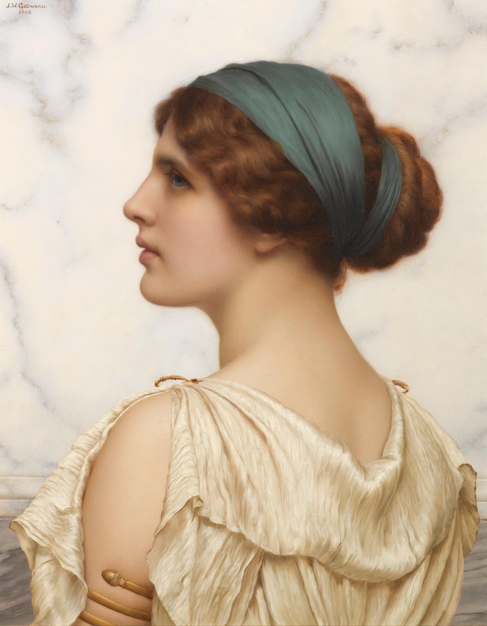 1908_Аталанта (быстроногая красавица, убивавшая копьём более медлительных в беге женихов) (50.8 х 40.6 см) (ч.с.)