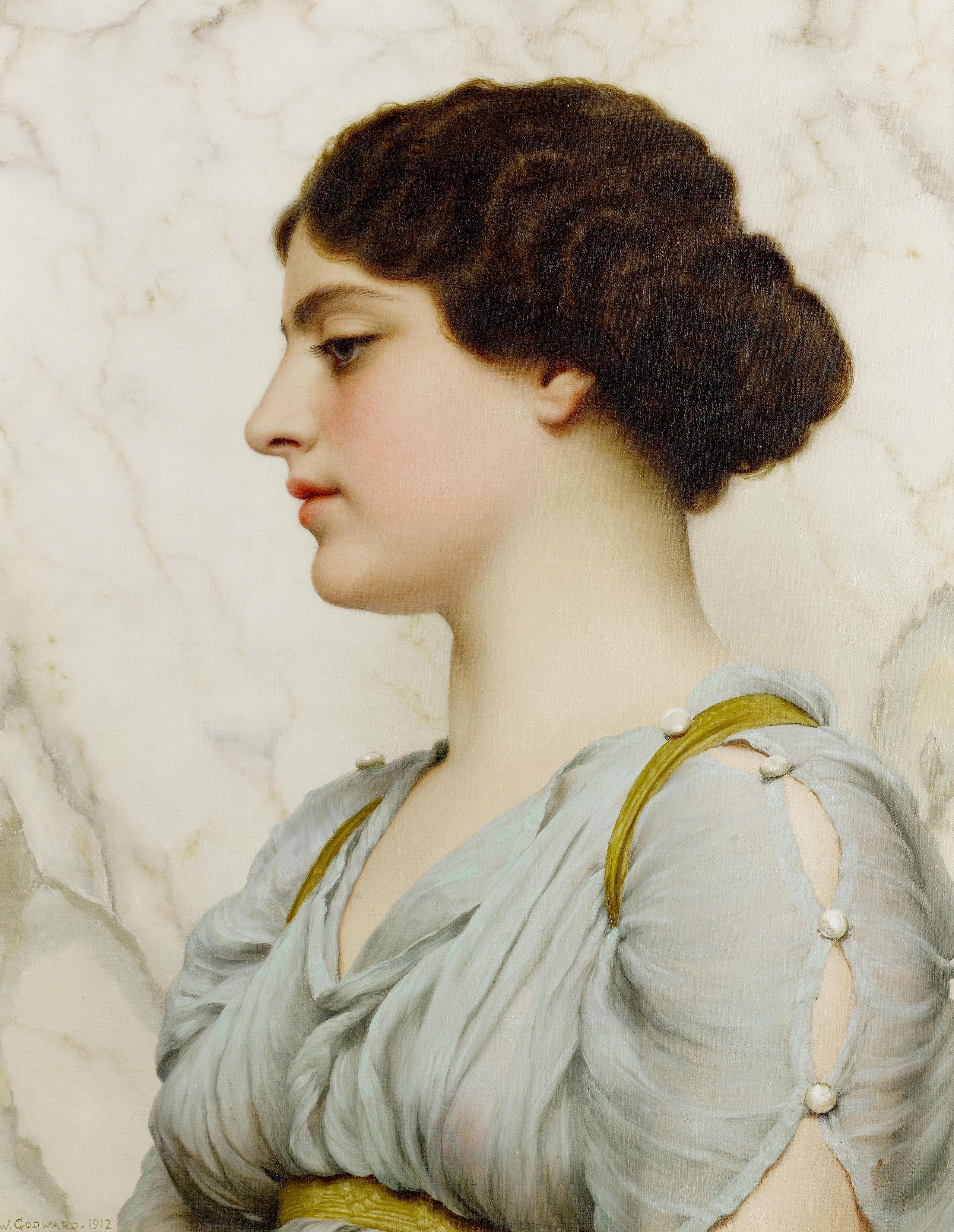 1912_Римская красавица (50.5 x 40 см) (ч.с.)