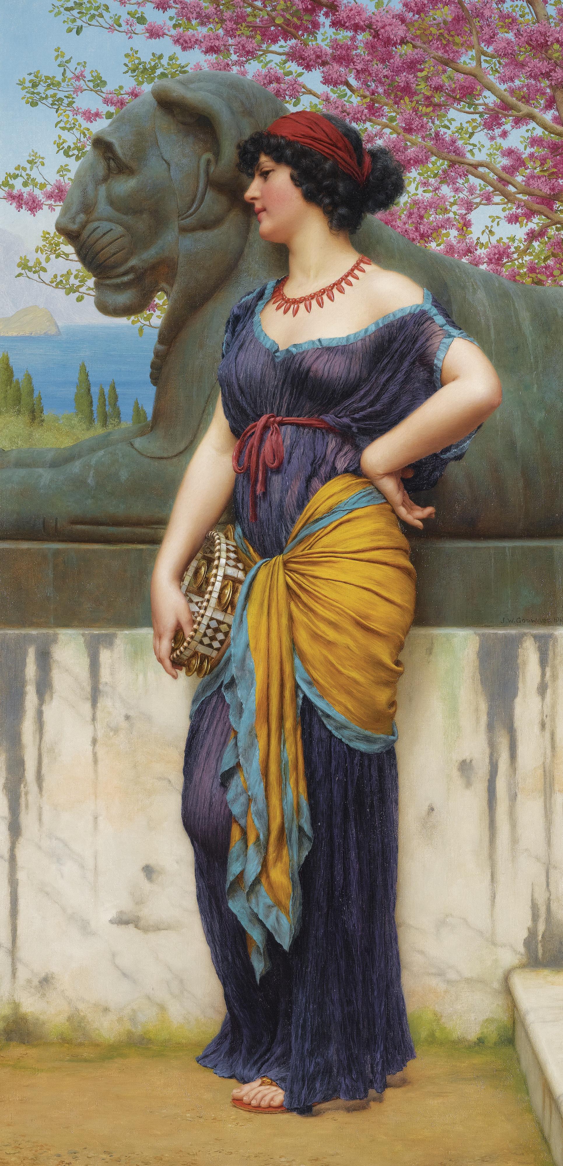 1915_В роще храма Изиды (80 х 40 см) (ч.с.)