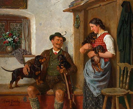 Adolf_Eberle_Dackelfamilie