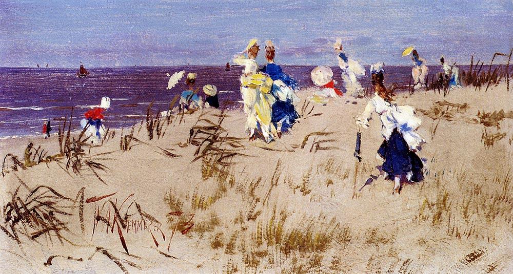 Frederick_Hendrik_Kaemmerer_-_Elegant_Women_On_The_Beach