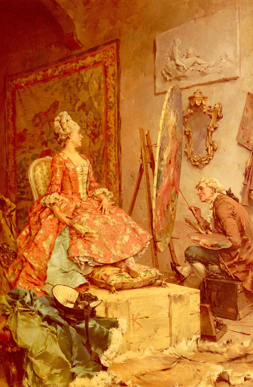 Frederick_Hendrik_Kaemmerer_-_Sitting_For_Her_Portrait