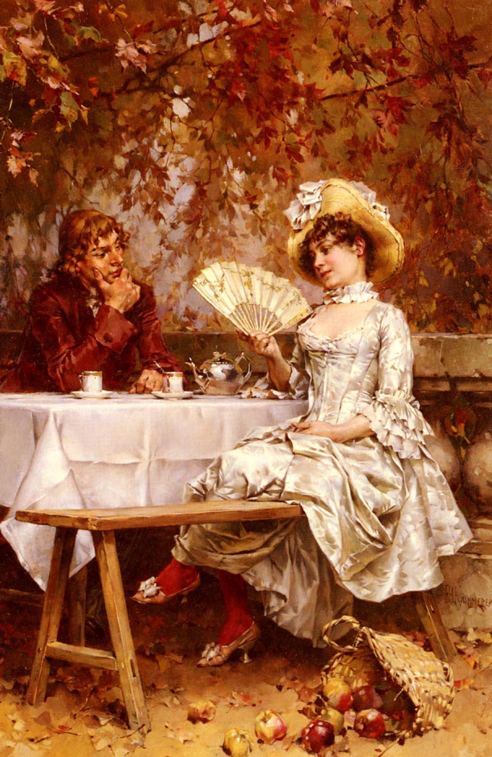 Frederick_Hendrik_Kaemmerer_-_Tea_In_The_Garden_Autumn