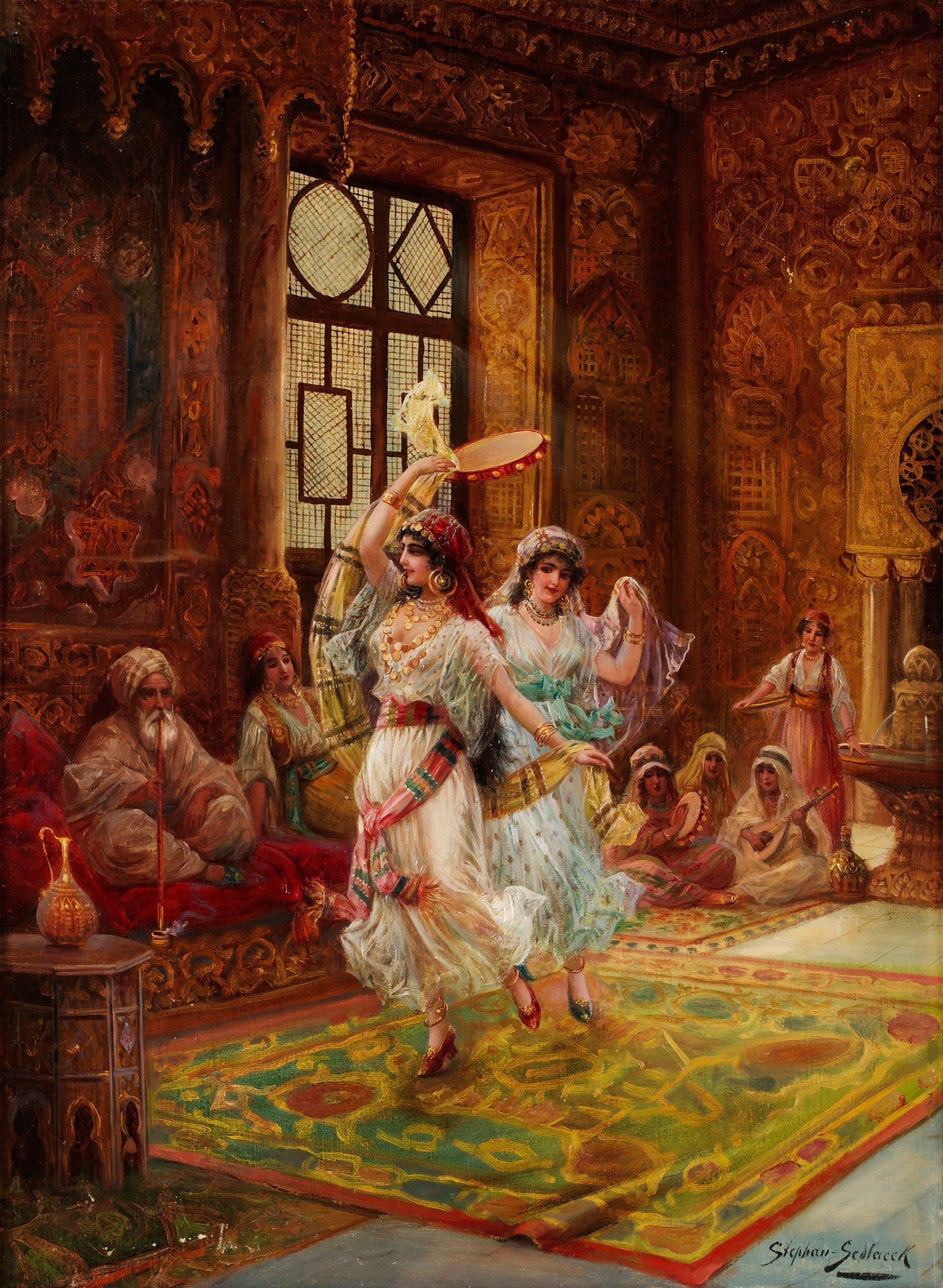 Harlem interior with dancing women