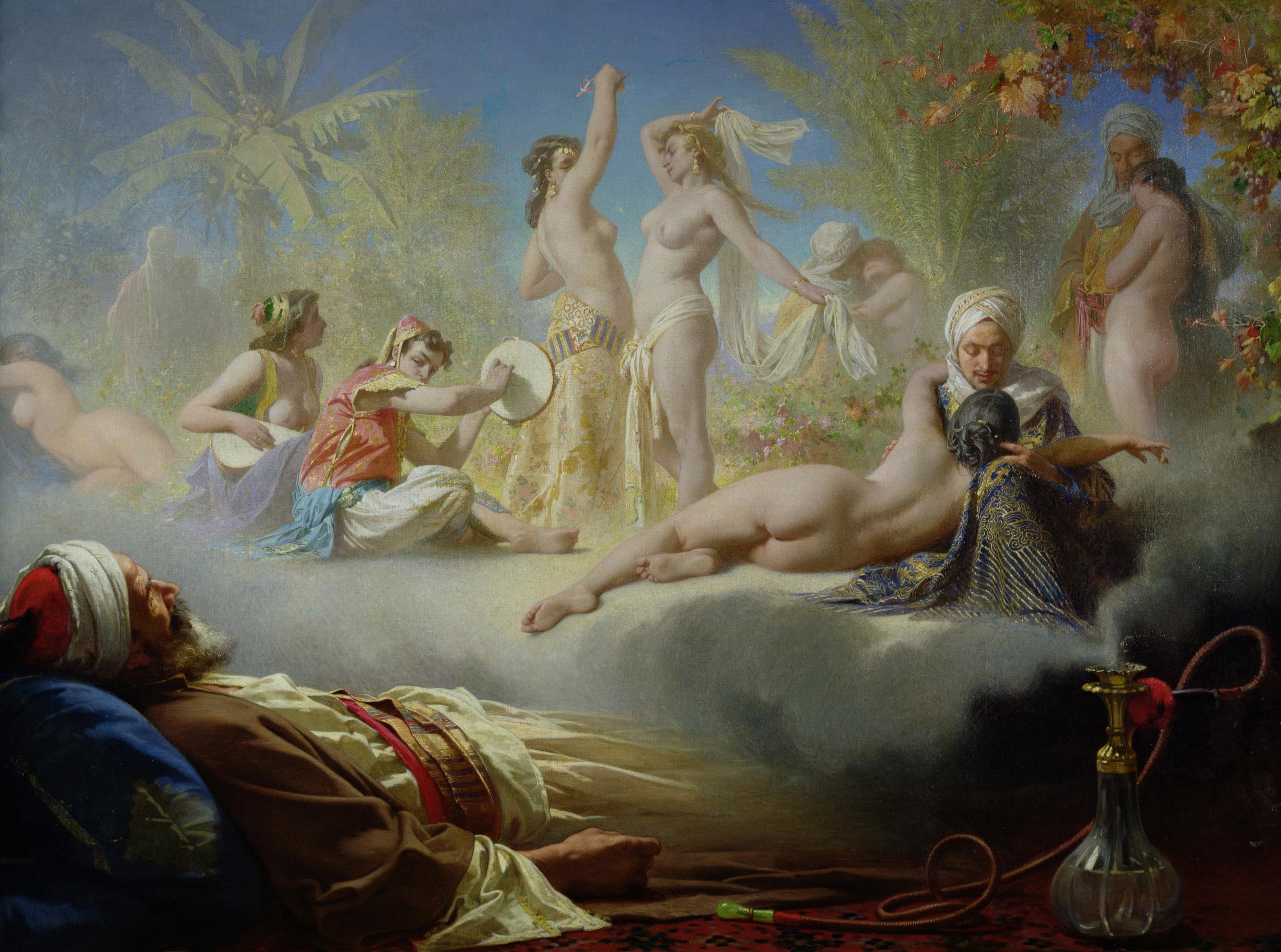 Achille Zo, 1826-1901. Грезы правоверного. ок.1870. Частная коллекция