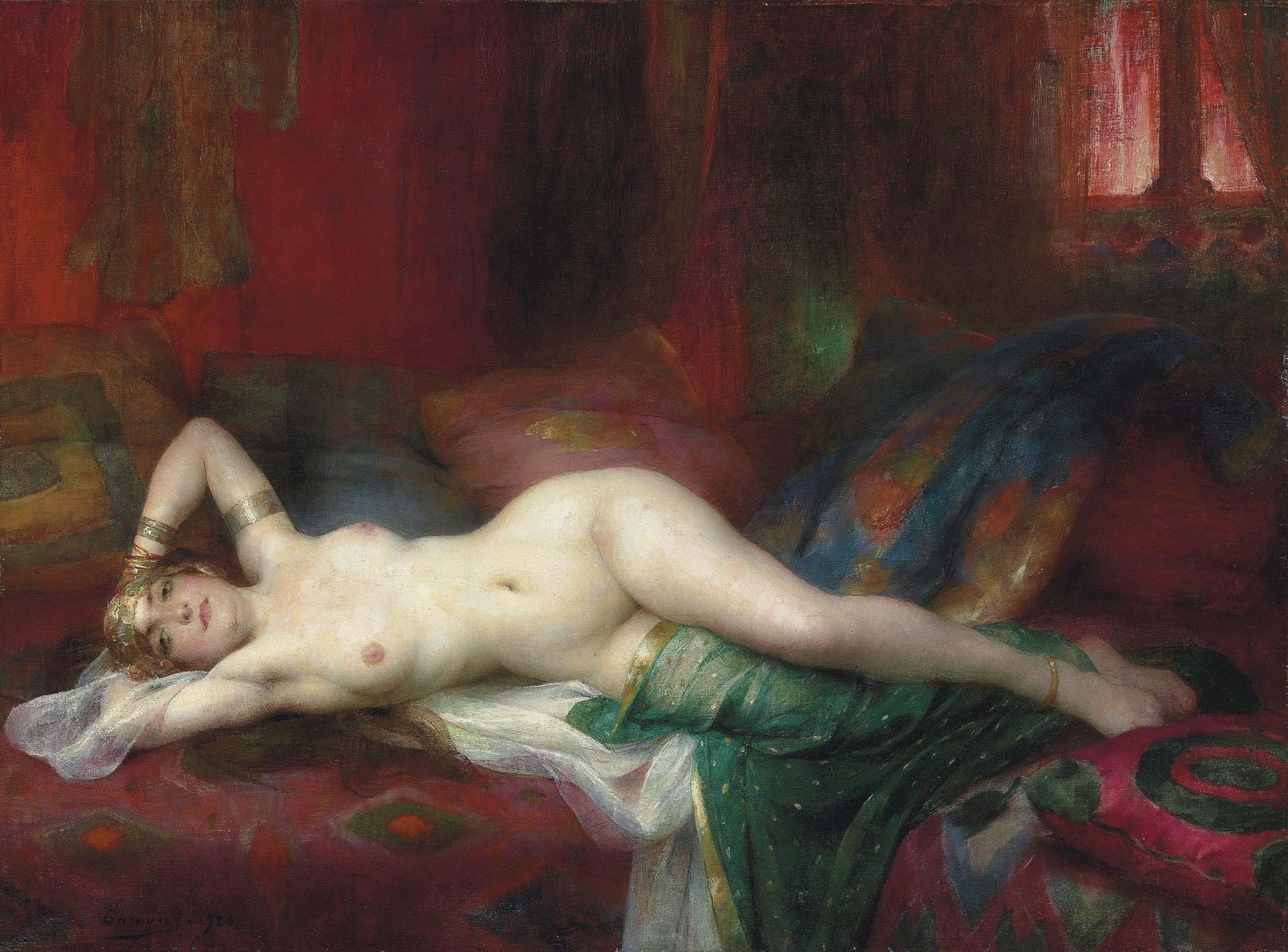Adrien Henri Tanoux, 1865-1923. Одалиска. 1920. 54 x 73.4 см. Частная коллекция