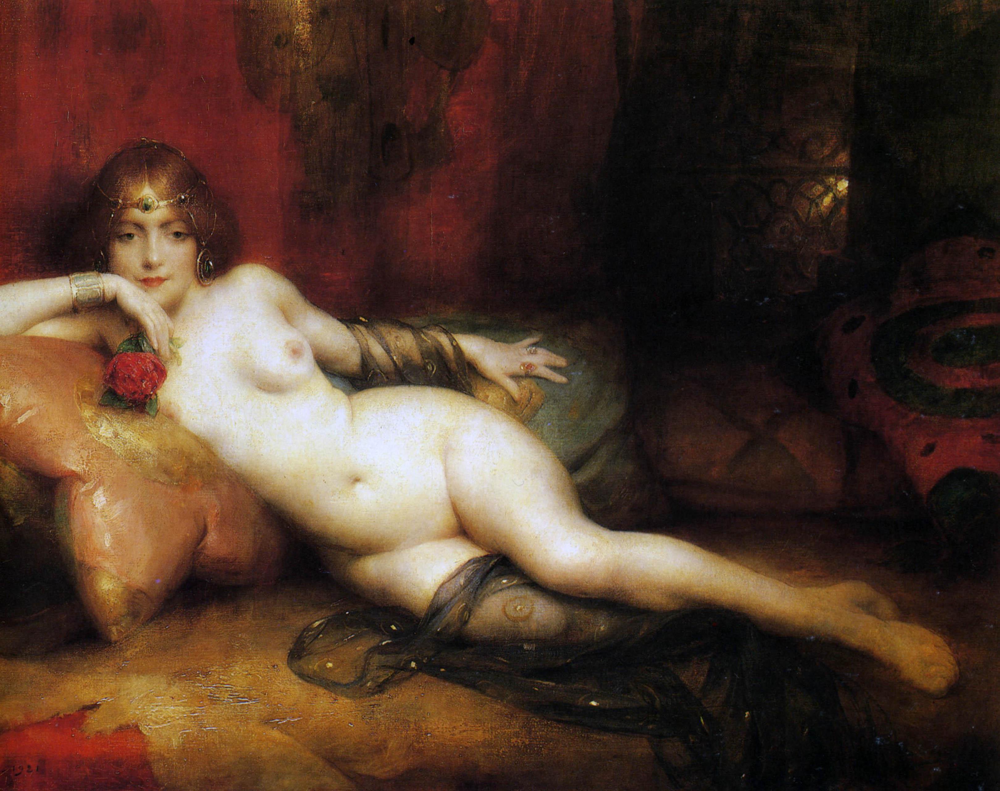 Adrien Henri Tanoux, 1865-1923. Саламбо. 1921. 74 х 100 см. Частная коллекция