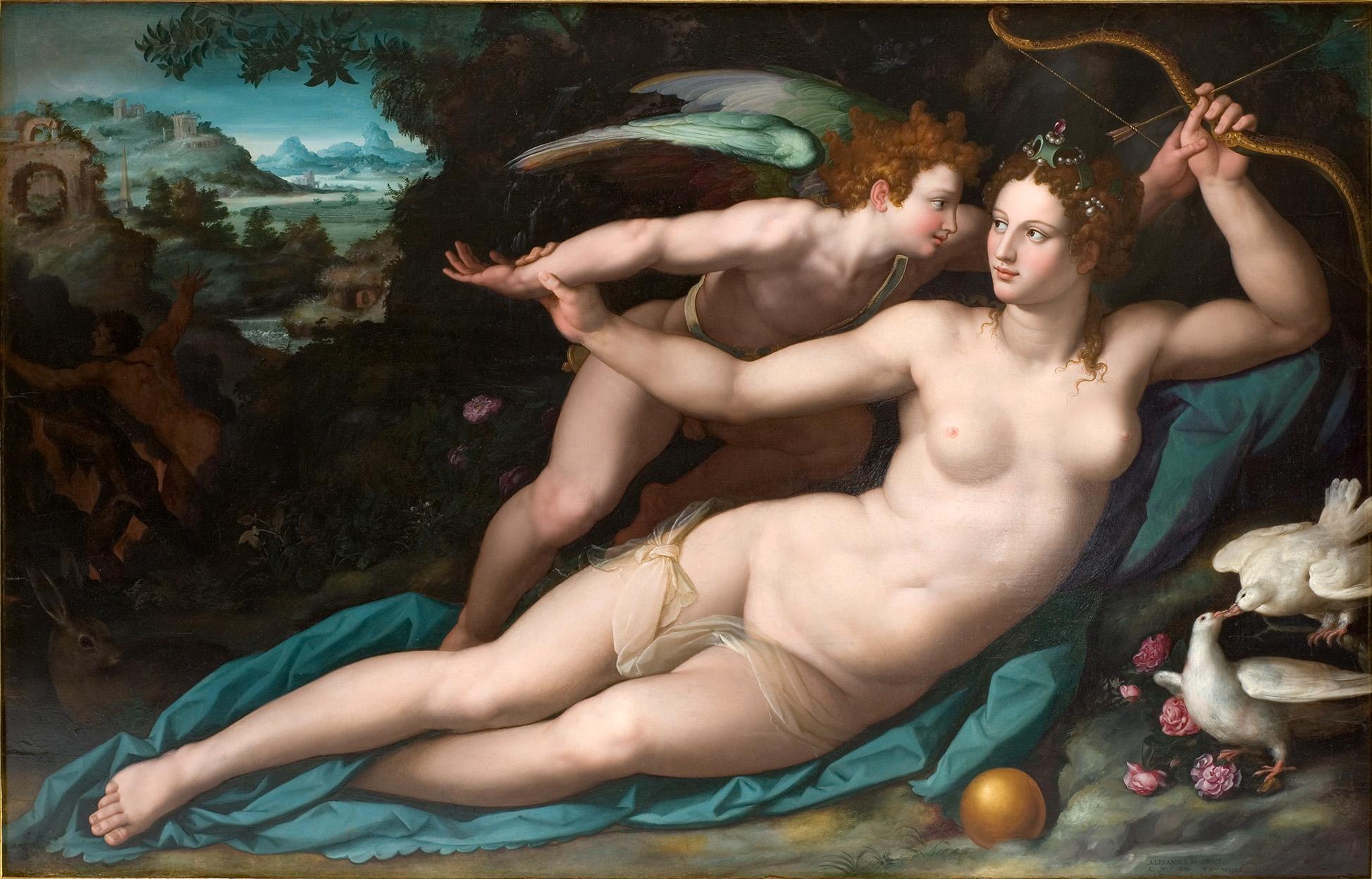 Alessandro Allori, 1535-1607. Венера и Купидон. ок.1570. Монпелье, Музей Фабре
