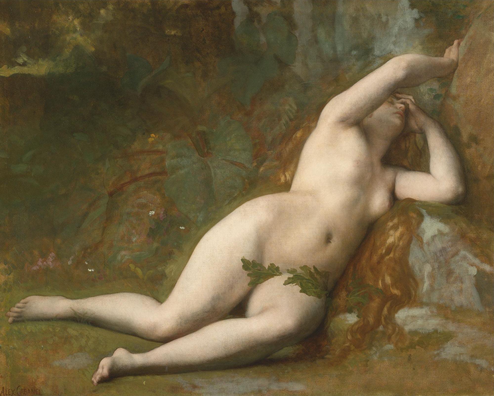 Alexandre Cabanel, 1824-1889. Ева после падения. 75.5 х 96 см. Частная коллекция.