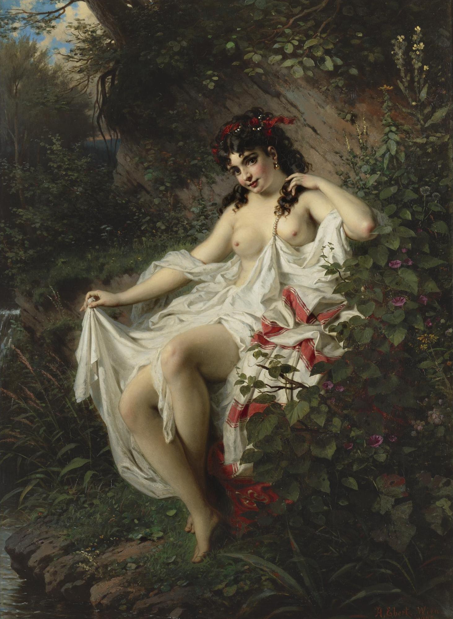 Anton Ebert, 1845–1896. Весна в лесу. 1875. 106 х 74.6 см. Частная коллекция