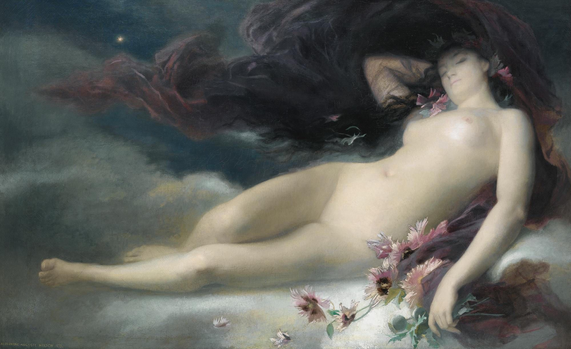 Auguste-Alexandre Hirsch, 1833-1912. Ночь. 105 х 168 см. Частная коллекция