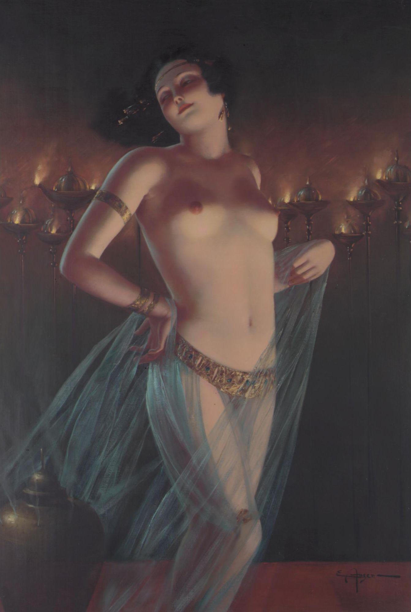 Eduard Ansen-Hofmann, 1820-1904. Прекрасная танцовщица. 100 х 71 см. Частная коллекция