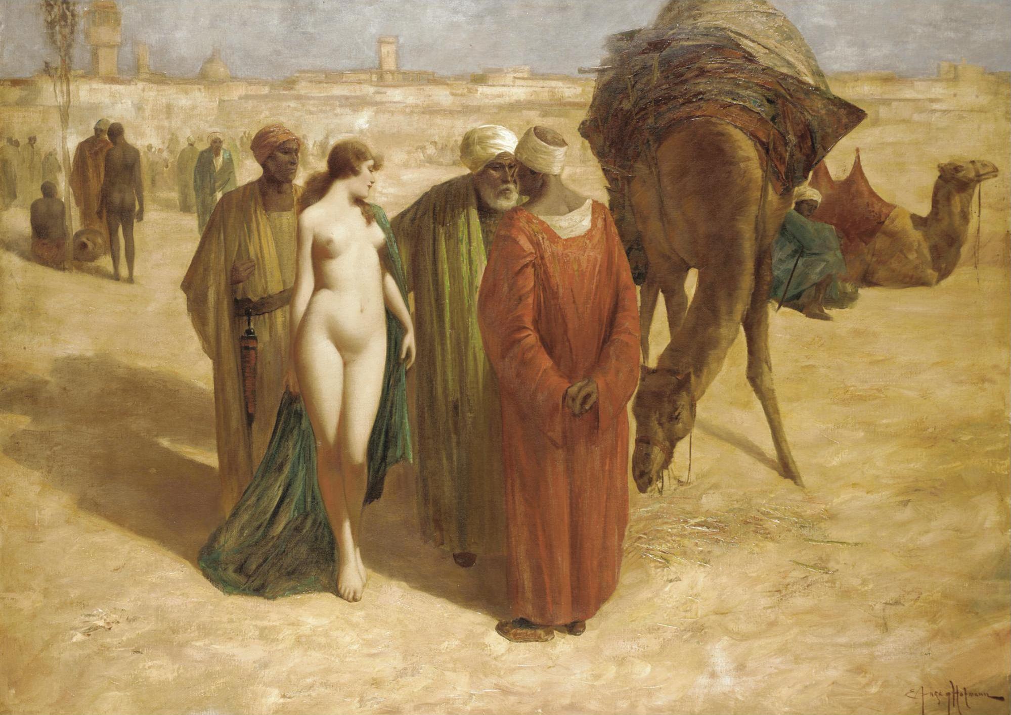 Eduard Ansen-Hofmann, 1820-1904. Торги. 90 х 124 см. Частная коллекция