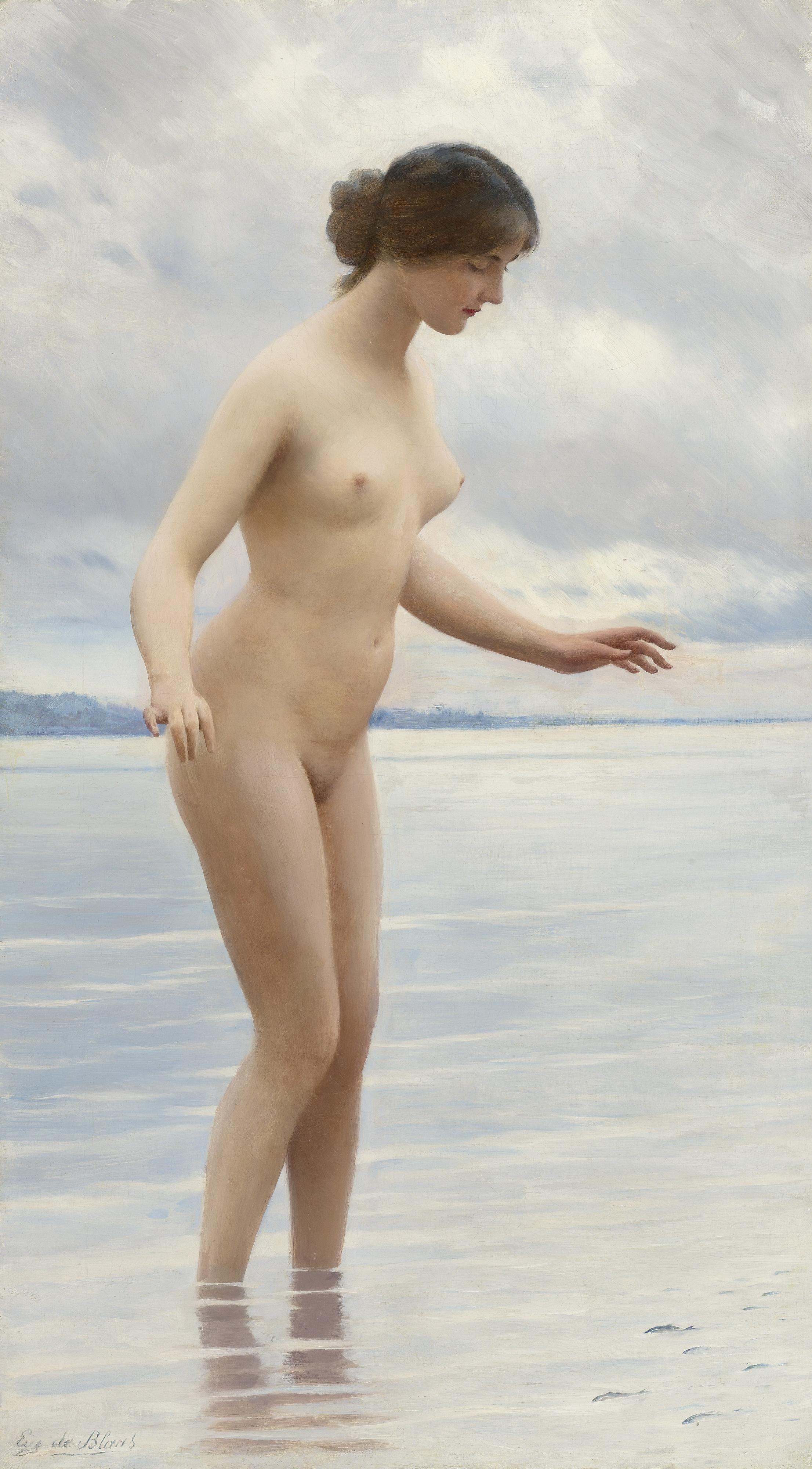 Eugen von Blaas, 1843-1931. В воде. 80.3 х 45 см. Частная коллекция