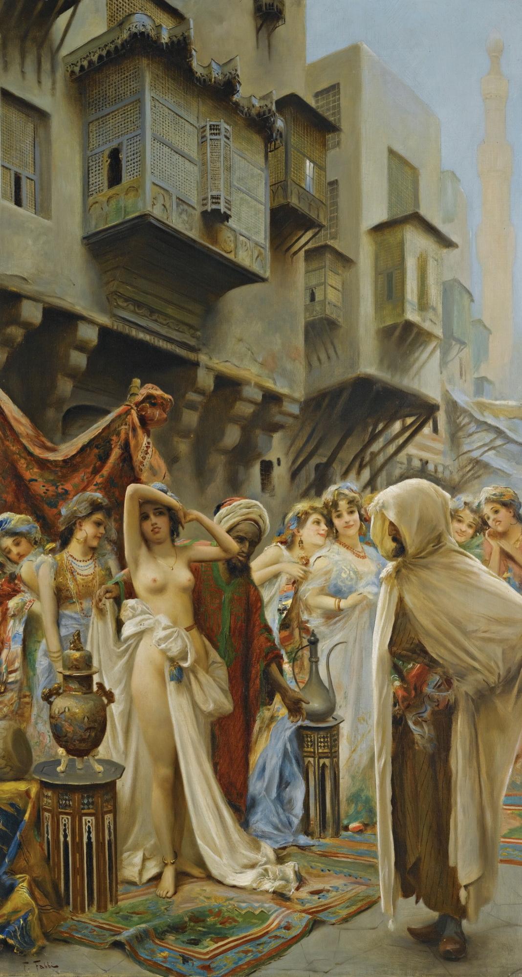 Fabio Fabbi, 1861-1946. Умелый выбор.101 х 55.5 см. Частная коллекция