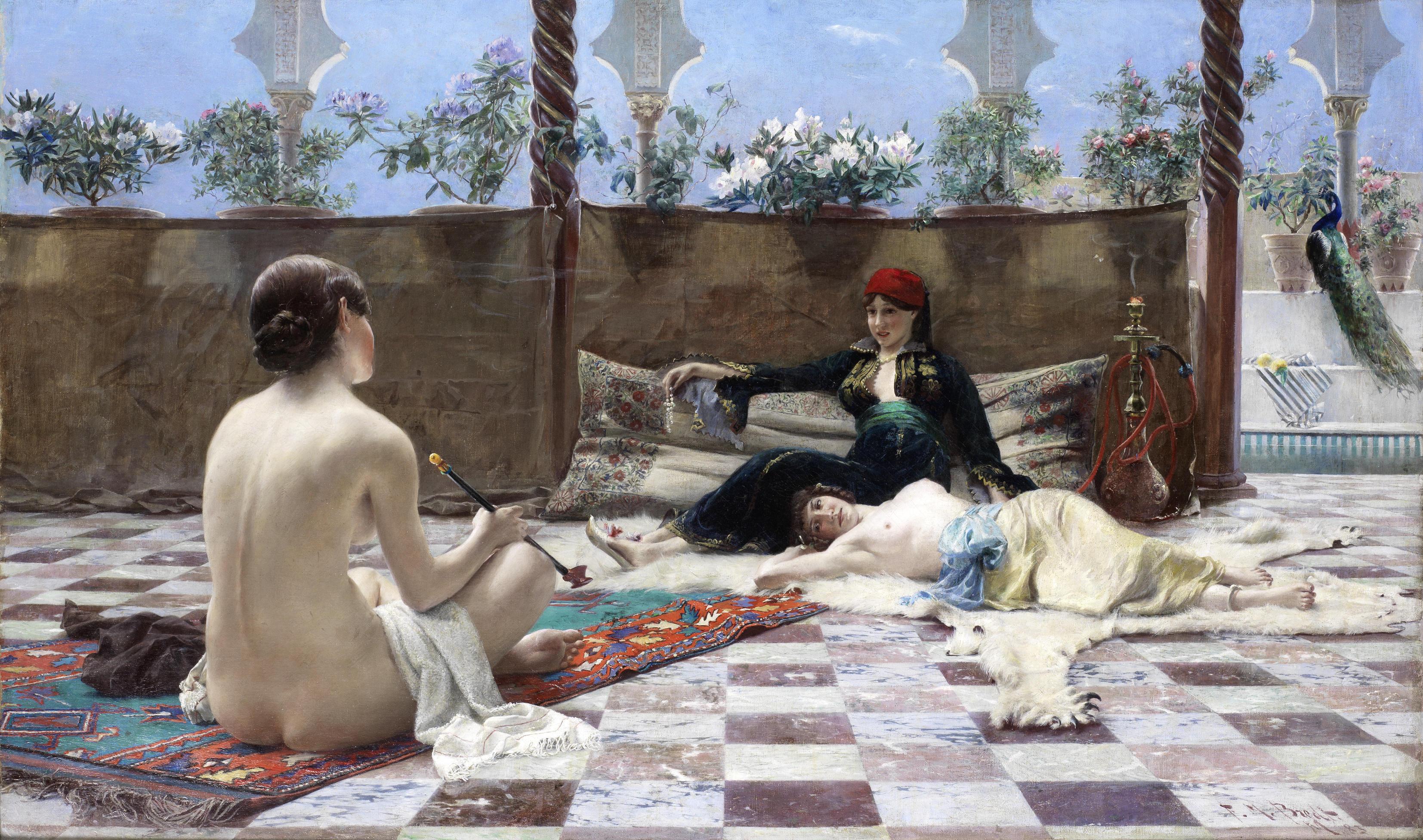 Ferdinand Max Bredt, 1868-1921. Турчанки. 1893. 60.5 x 100.5 см. Частная коллекция