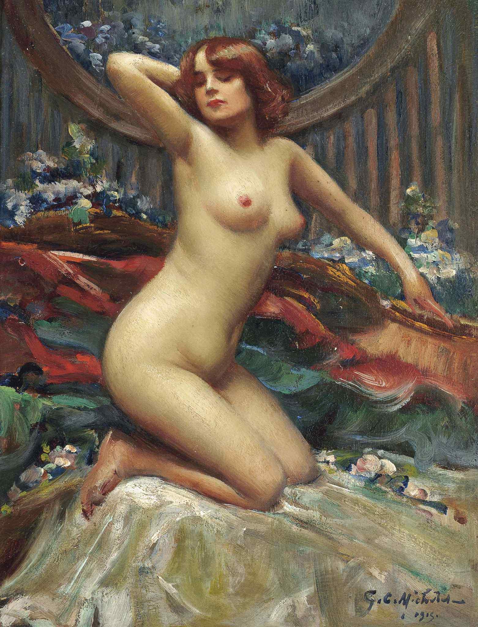 George C. Michelet, род в 1873. Соблазнительница. 1915. 26 x 19.5 см. Частная коллекция