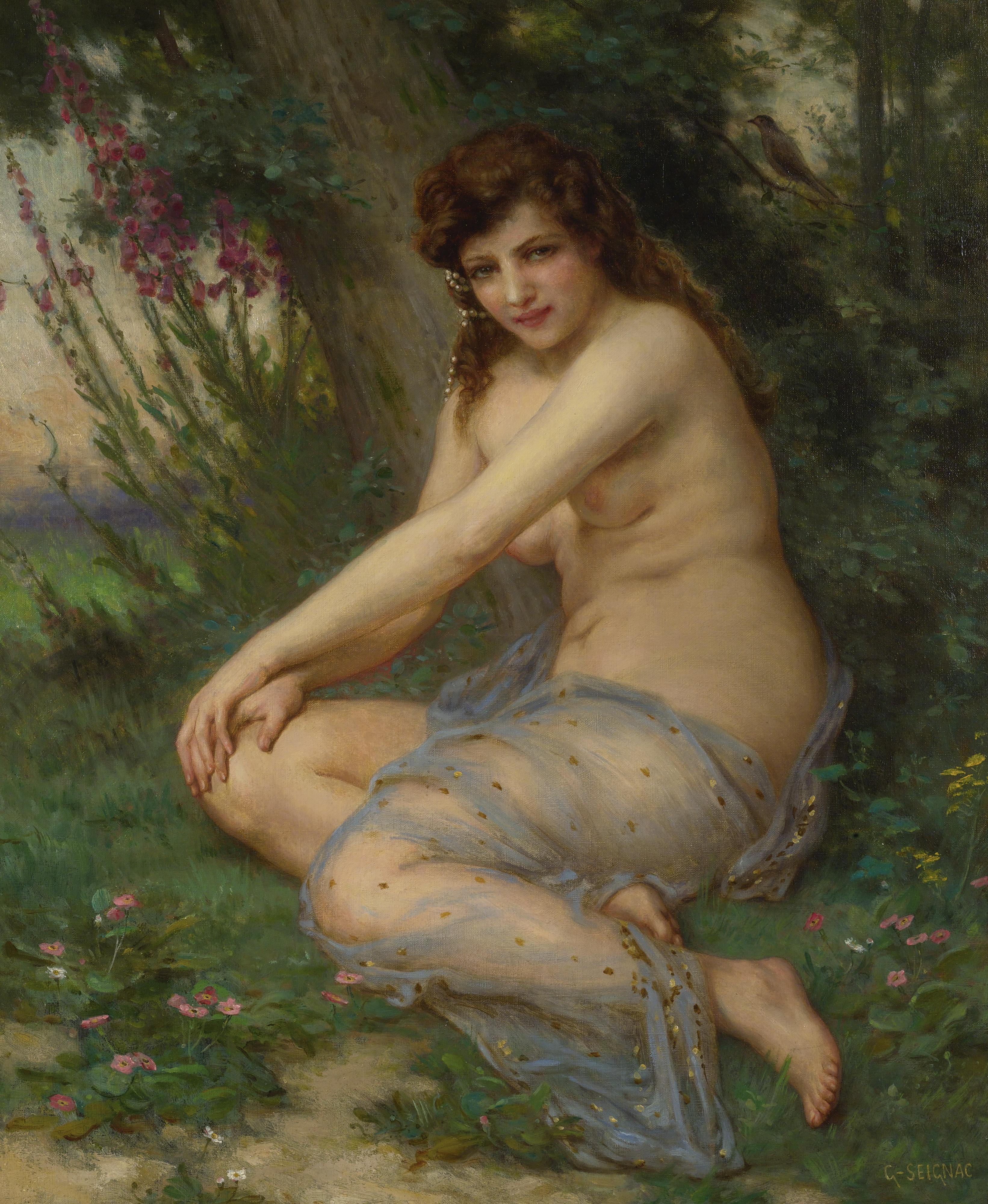 Guillaume Seignac, 1870-1924. В лесу. 64.8 х 54.1 см. Частная коллекция