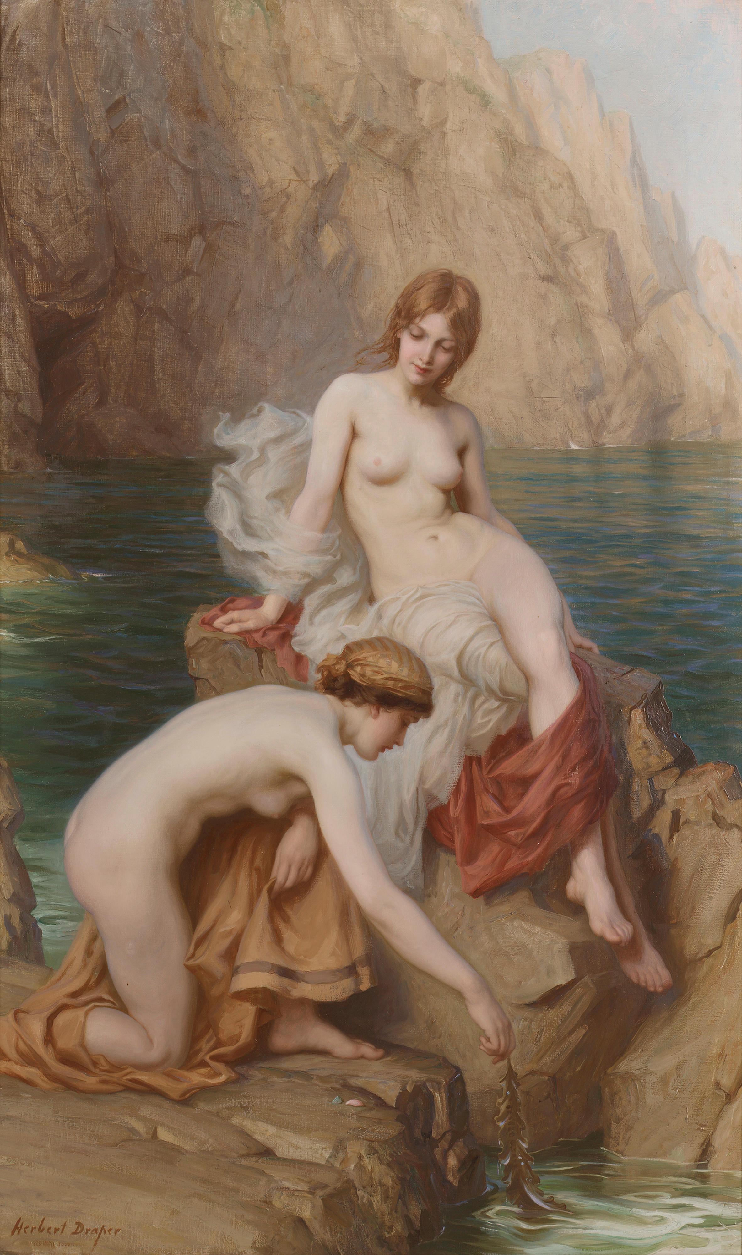 Herbert James Draper, 1864-1920. Летом на море. 127 x 76см. Частная коллекция