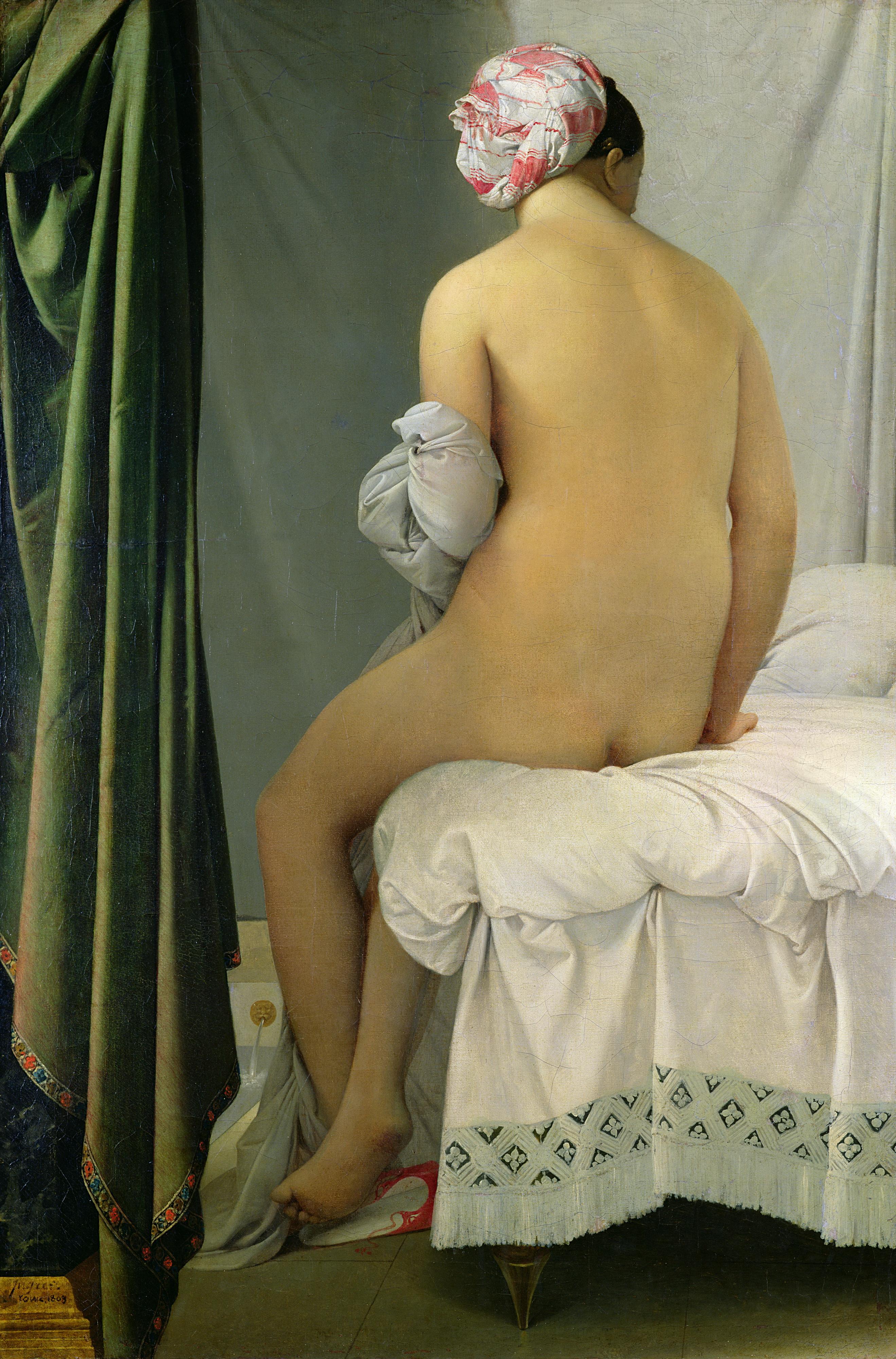 Jean Auguste Dominique Ingres, 1780-1867. Купальщица. 1808. 146 х 97.5 см. Париж, Лувр