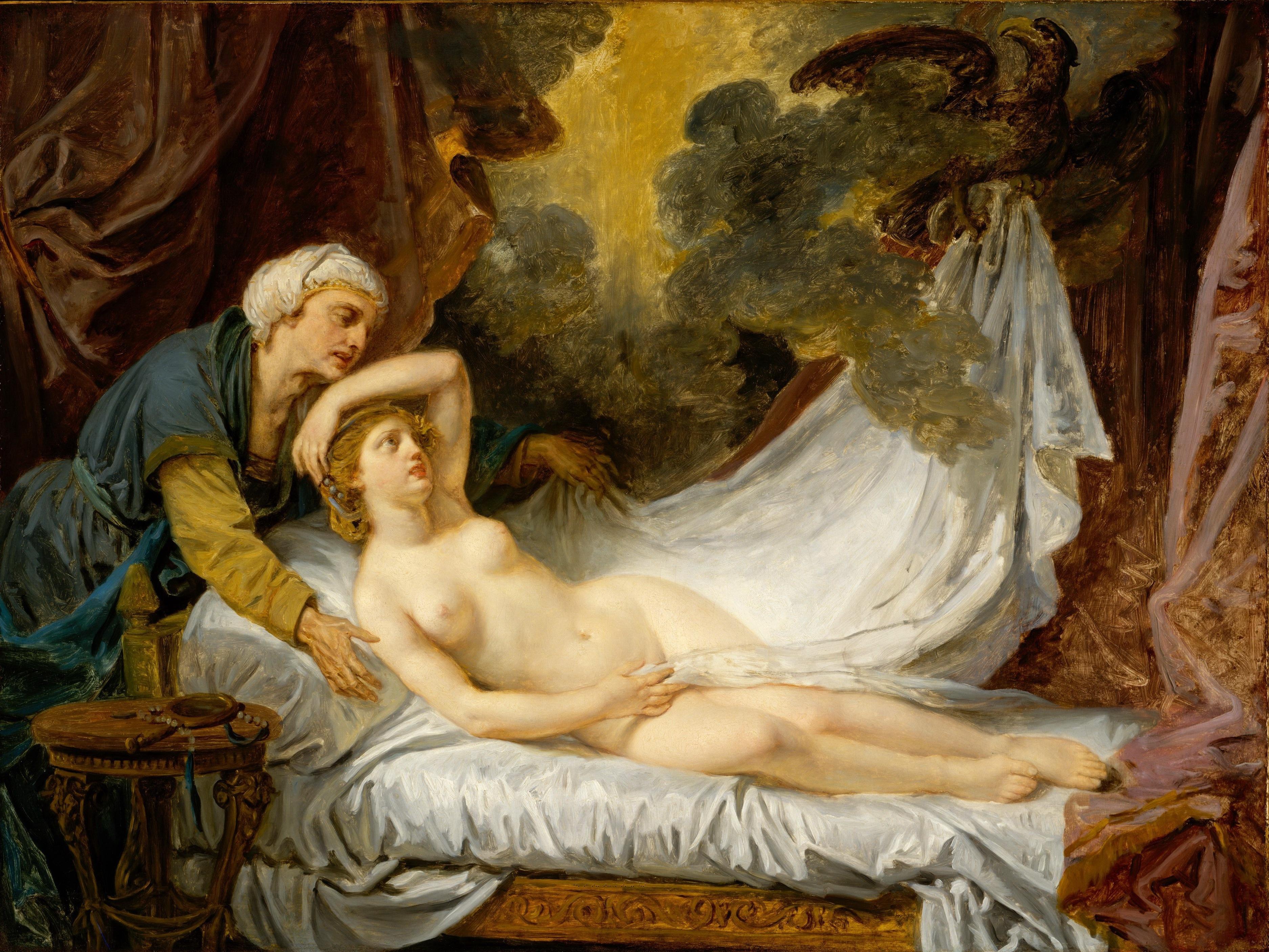 Jean-Baptiste Greuze, 1725-1805. Эгина принимает Юпитера. 1767-1769. Нью-Йорк, Метрополитен