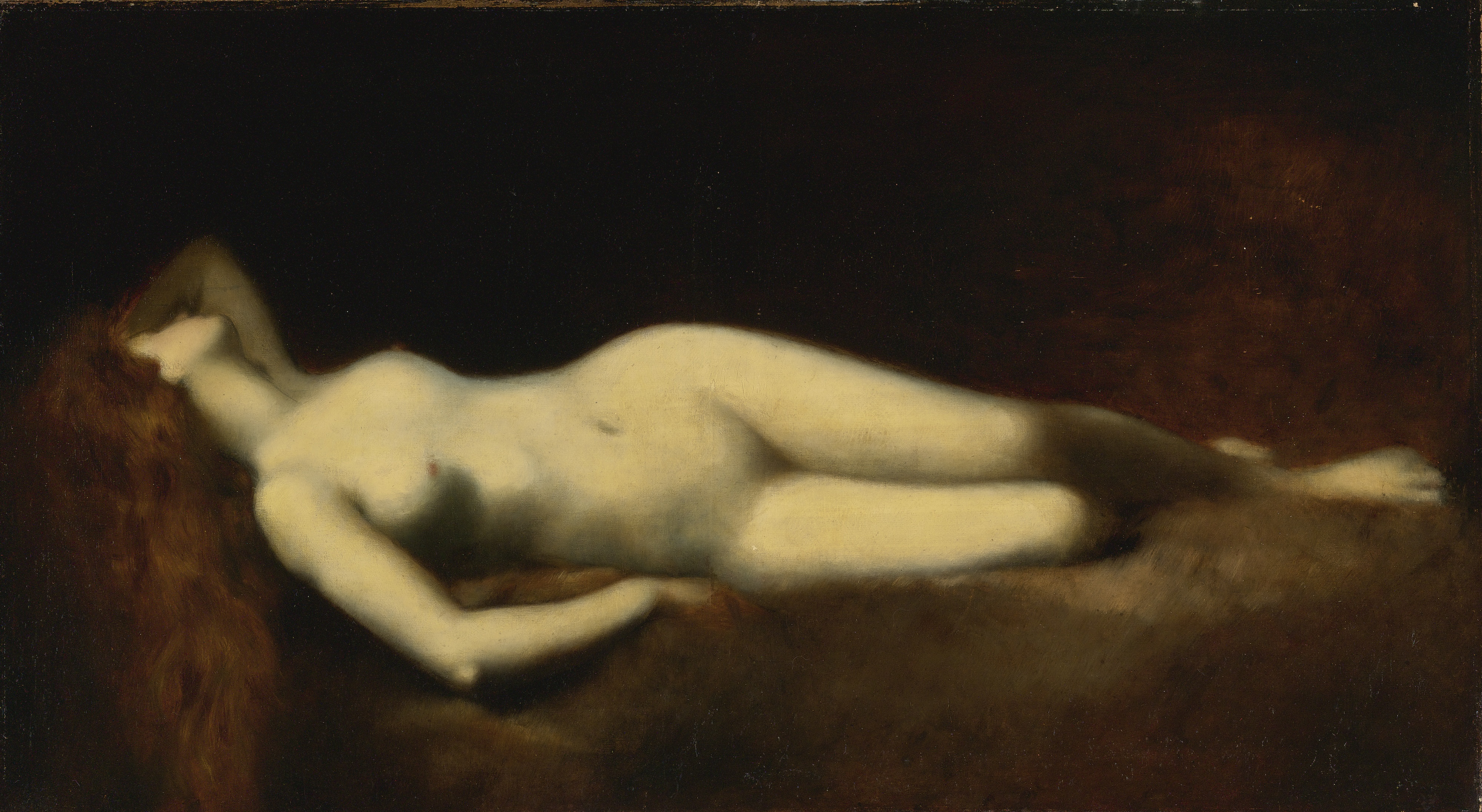 Jean-Jacques Henner, 1829-1905. Спящая. 71.1 х 128.2 см. частная коллекция
