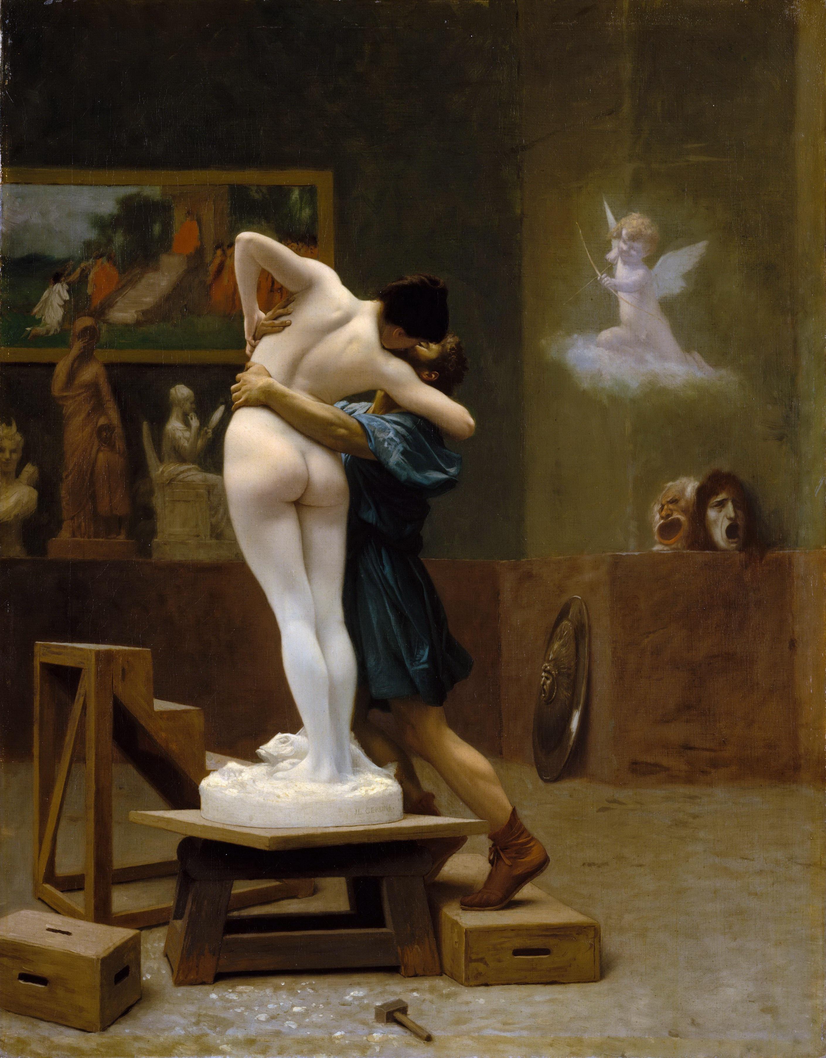Jean-Leon Gerome, 1824-1904. Пигмалион и Галатея. ок.1890. Нью-Йорк, Метрополитен
