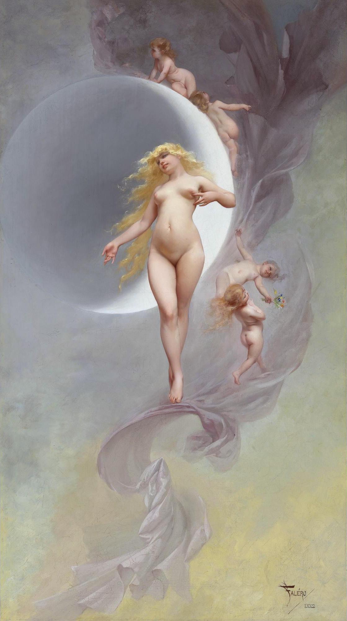Luis Ricardo Falero, 1851-1896. Планета Венера. 1882. 111.3 х 62.8 см. Частная коллекция