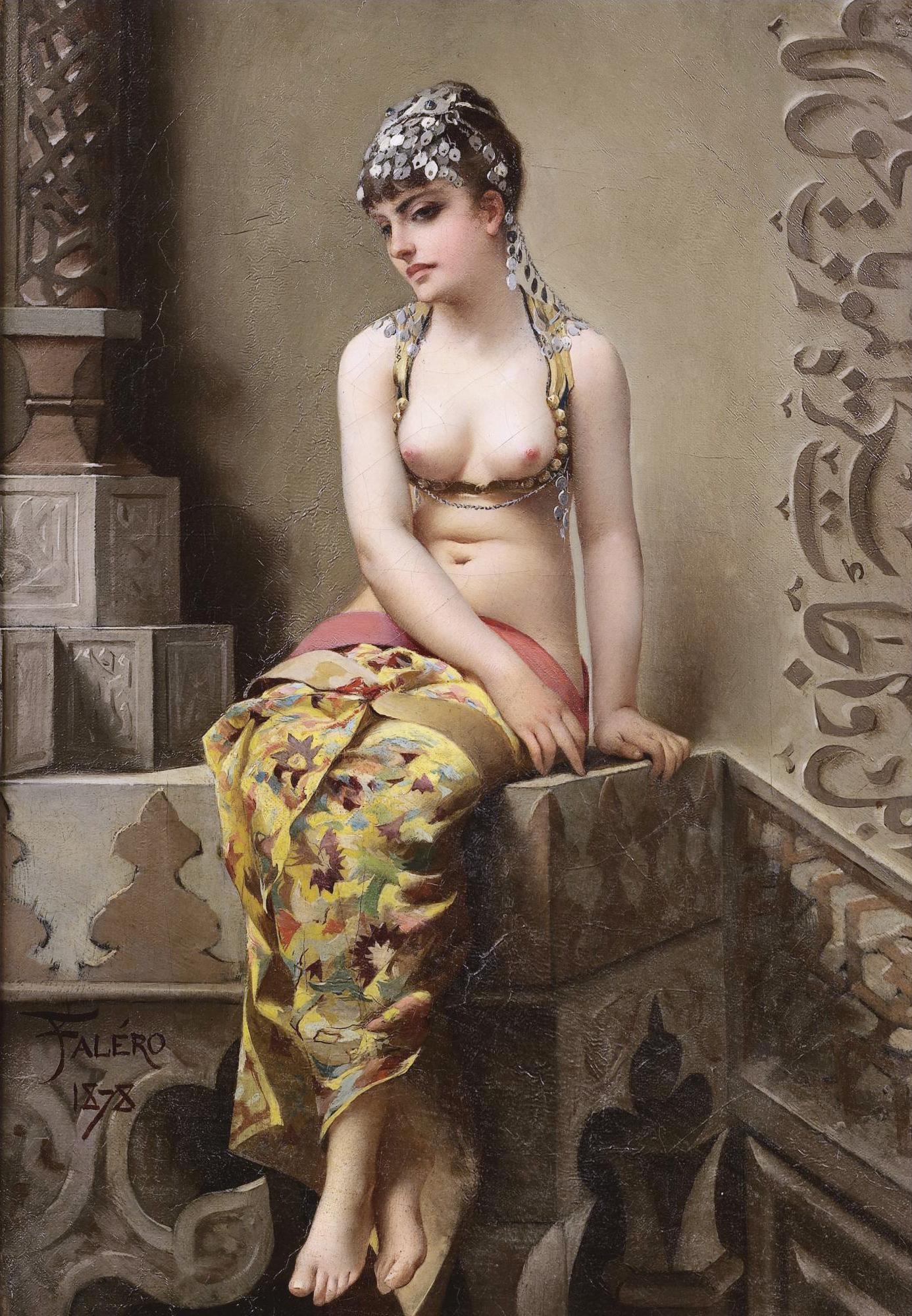 Luis Ricardo Falero, 1851-1896. Чаровница. 1878. 27.3 х 19.5 см. Частная коллекция