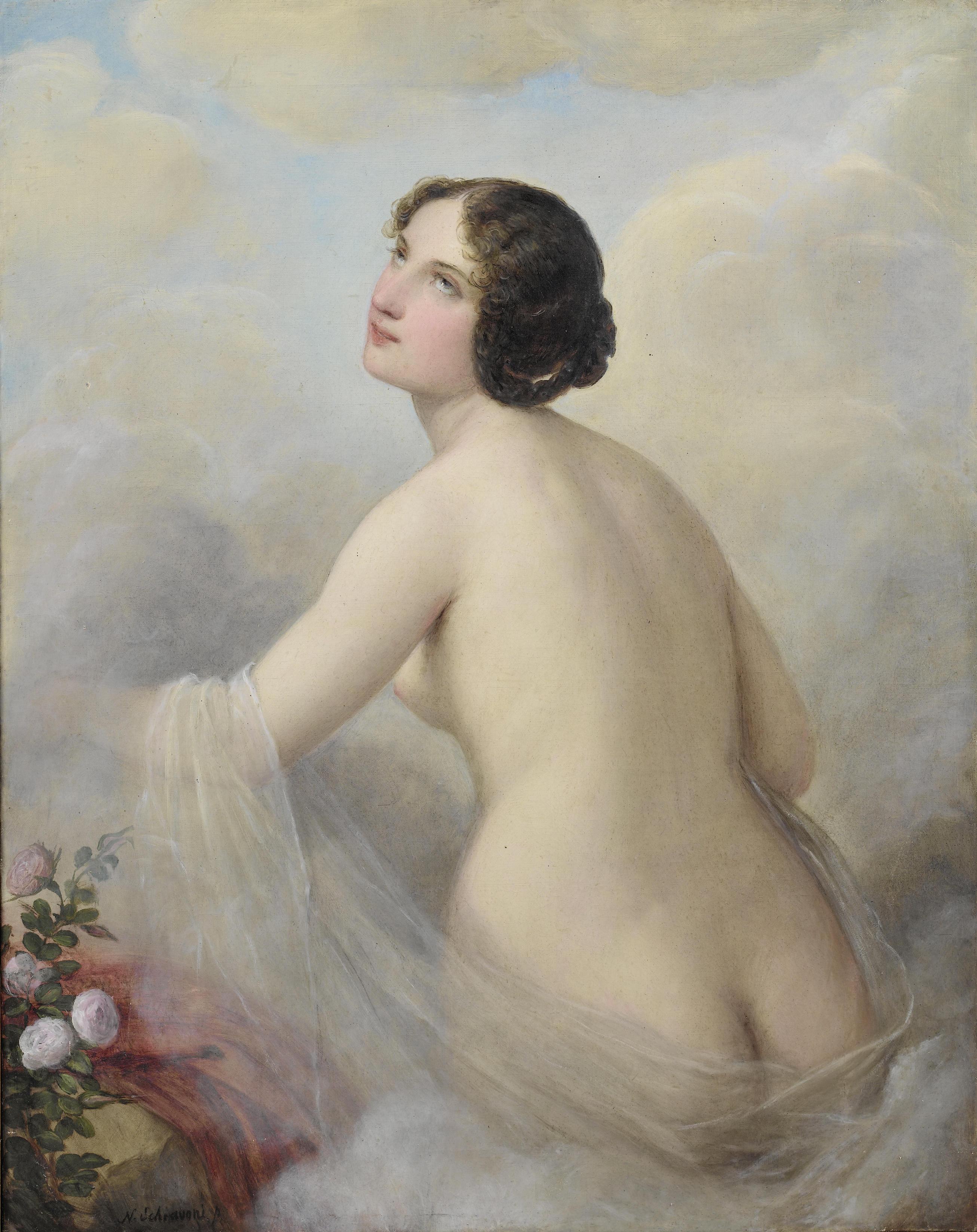 Natale Schiavoni, 1777-1858. Венера. 103 x 81 см. Частная коллекция