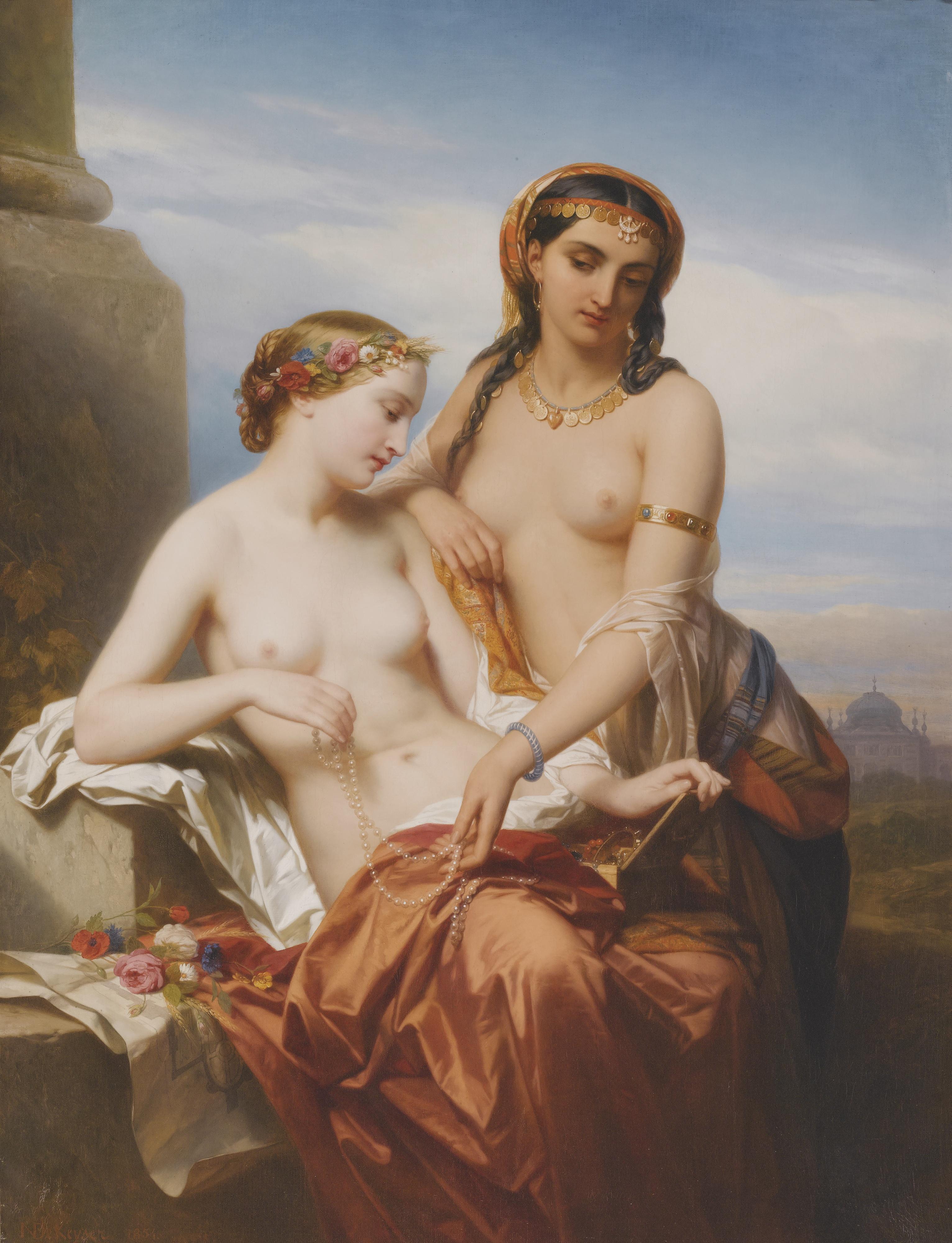 Nicase de Keyser, 1813-1887. Восток и Запад. 172 х 130 см. Частная коллекция