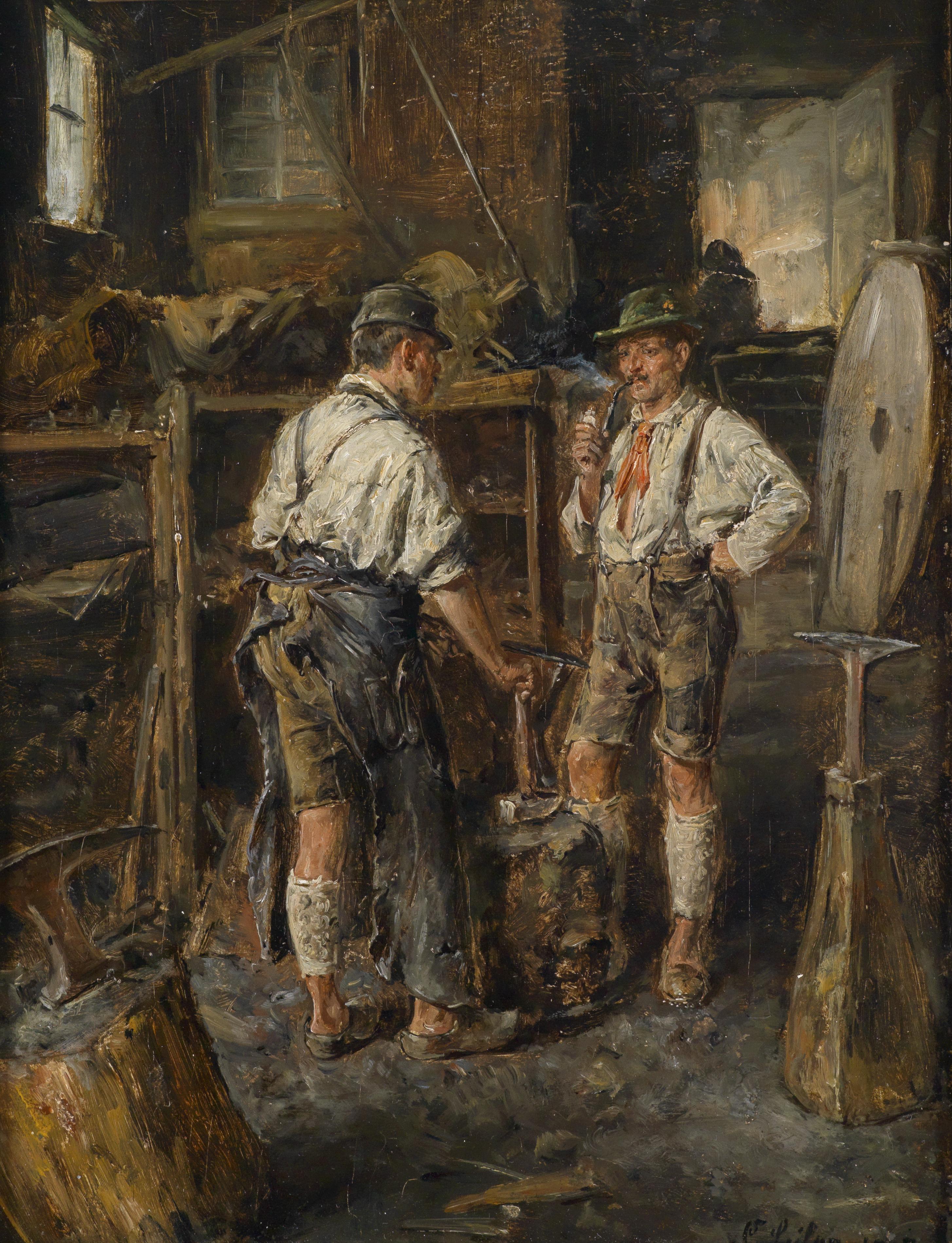 Carl_Seiler_Beim_Schmied_1907