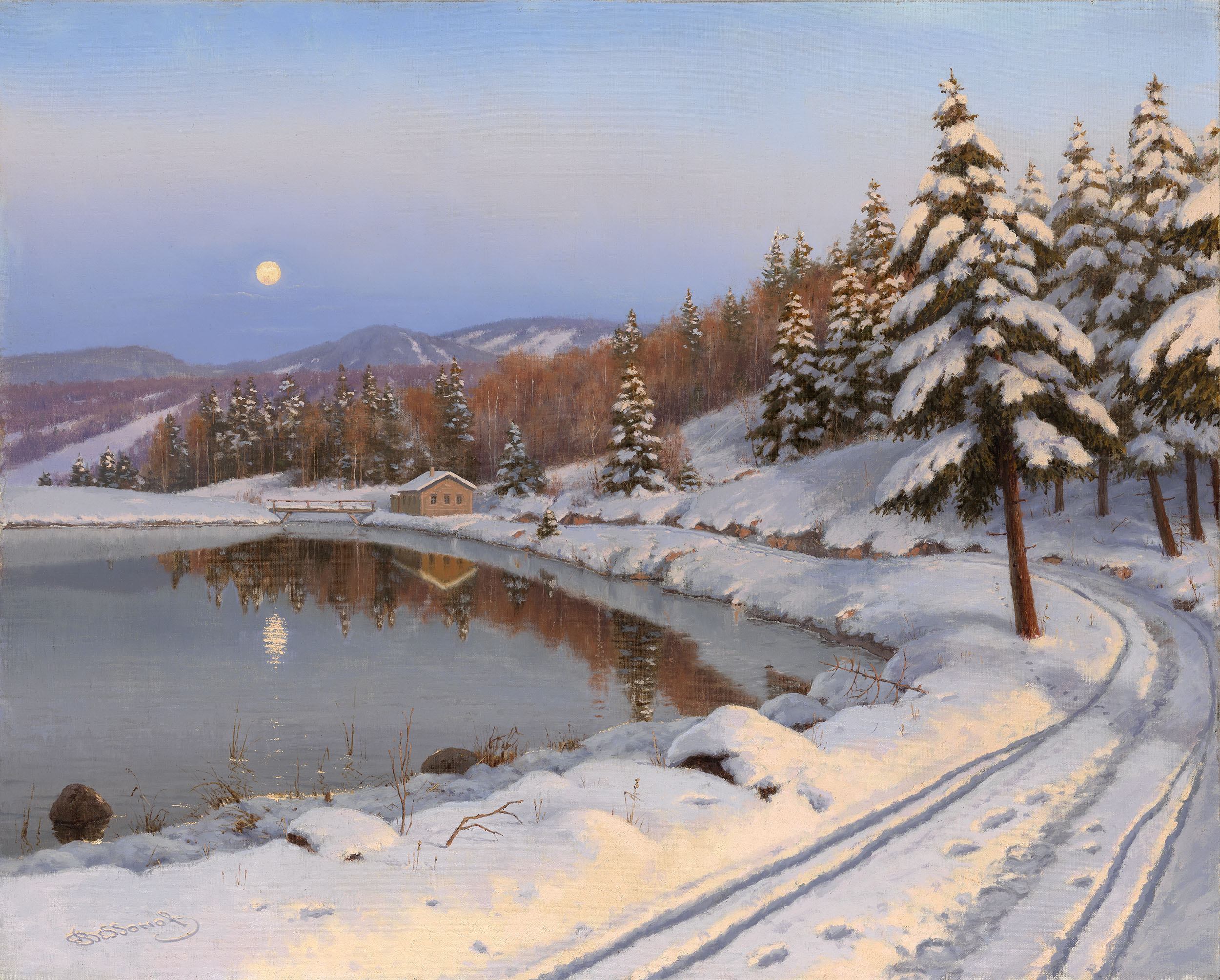 BESSONOV, BORIS  Moonlit Lake